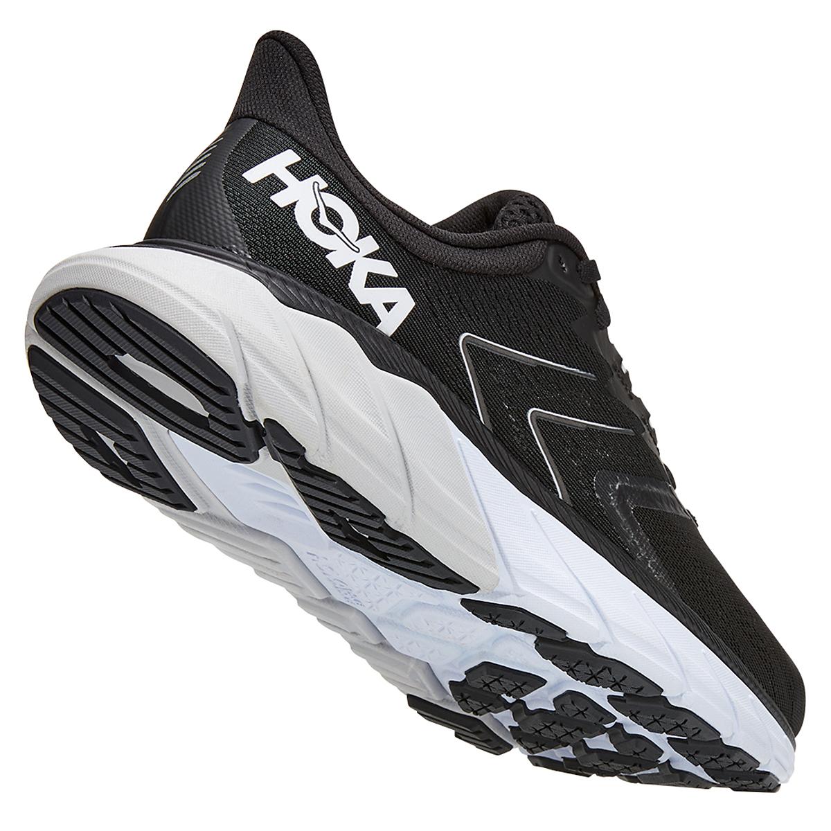 Women's Hoka One One Arahi 5 Running Shoe - Color: Black/White - Size: 5 - Width: Regular, Black/White, large, image 2