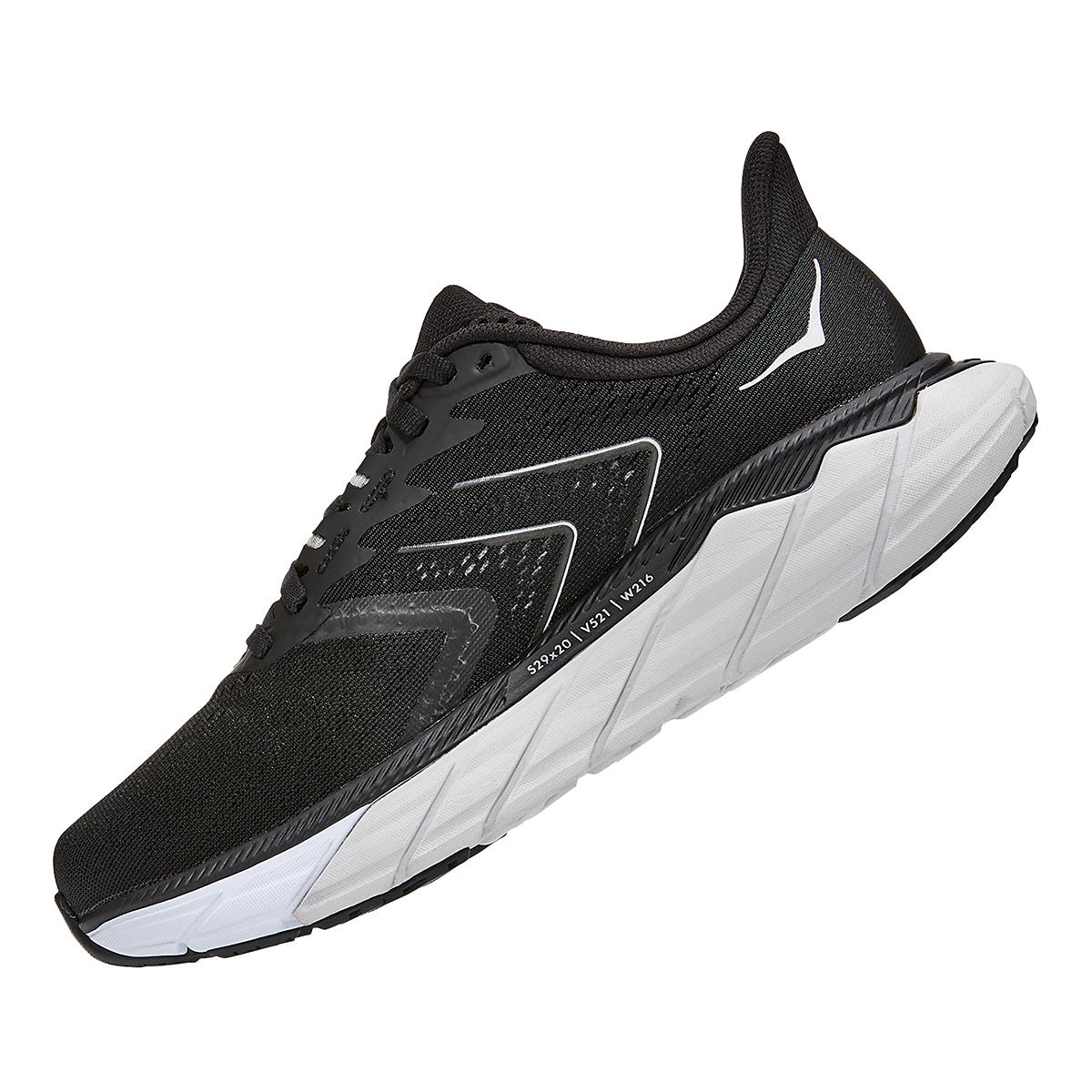 Women's Hoka One One Arahi 5 Running Shoe - Color: Black/White - Size: 5 - Width: Regular, Black/White, large, image 4