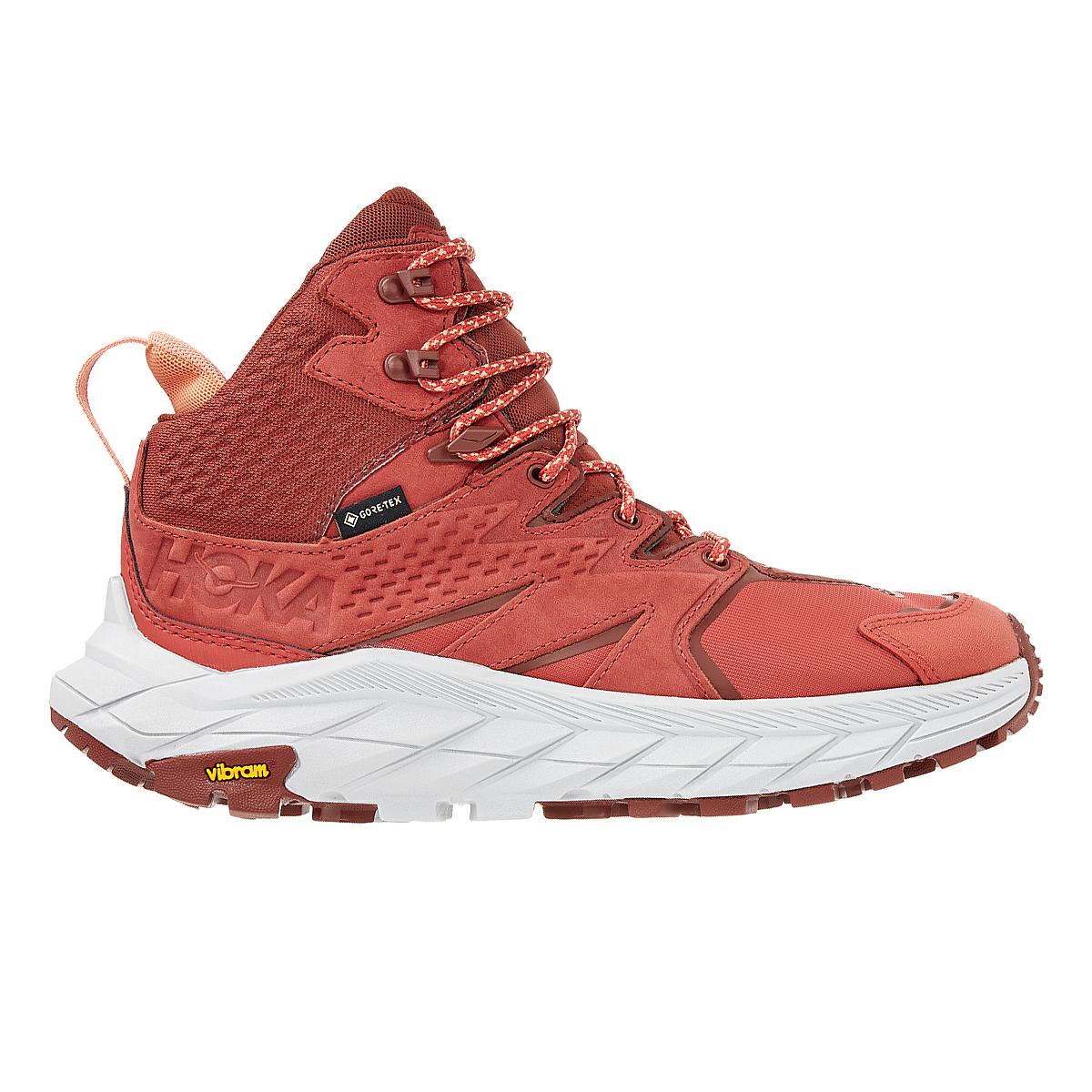 Women's Hoka One One Anacapa Mid Gore-Tex Trail Running Shoe - Color: Hot Sauce/Cherry Mahogany - Size: 5 - Width: Regular, Hot Sauce/Cherry Mahogany, large, image 1