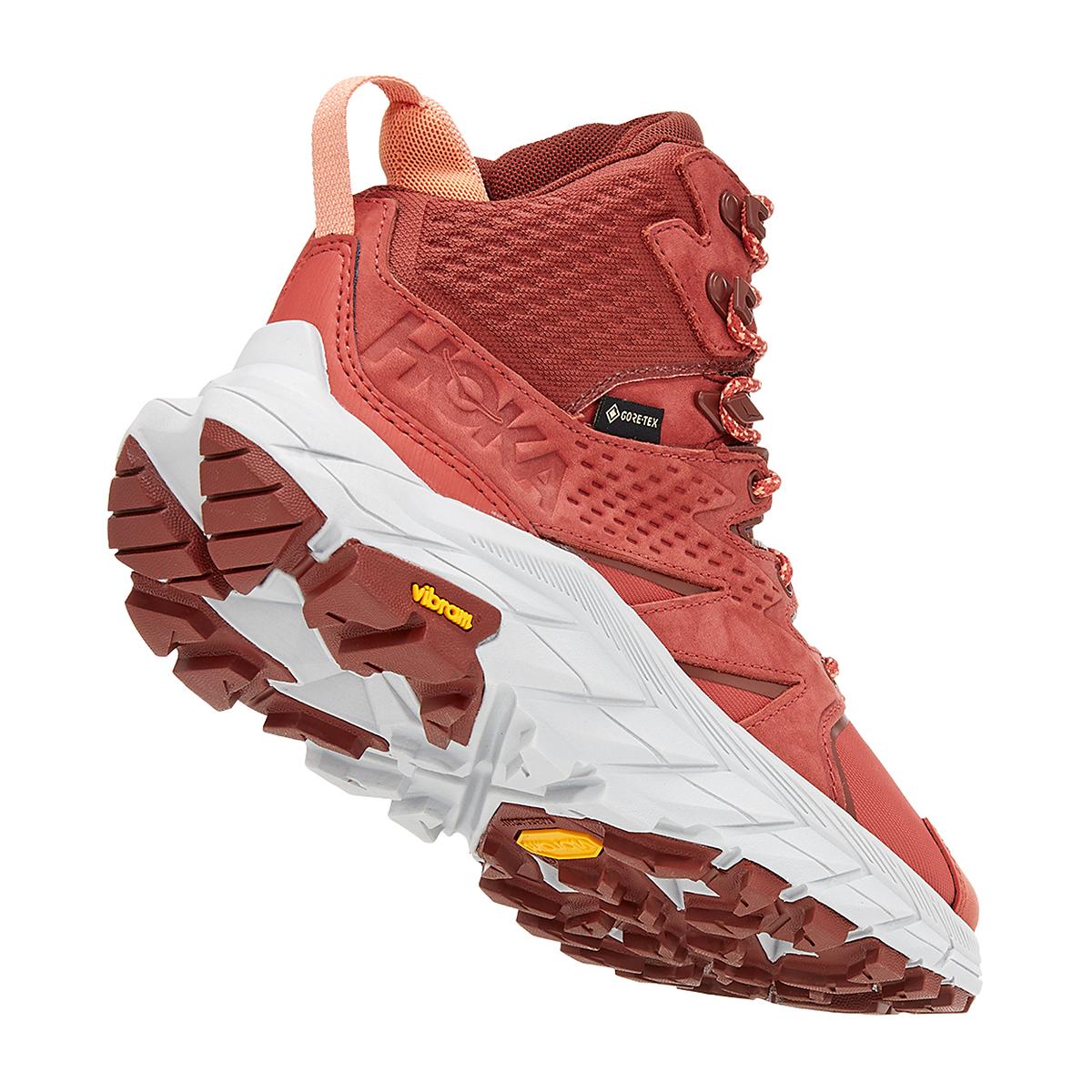 Women's Hoka One One Anacapa Mid Gore-Tex Trail Running Shoe - Color: Hot Sauce/Cherry Mahogany - Size: 5 - Width: Regular, Hot Sauce/Cherry Mahogany, large, image 3