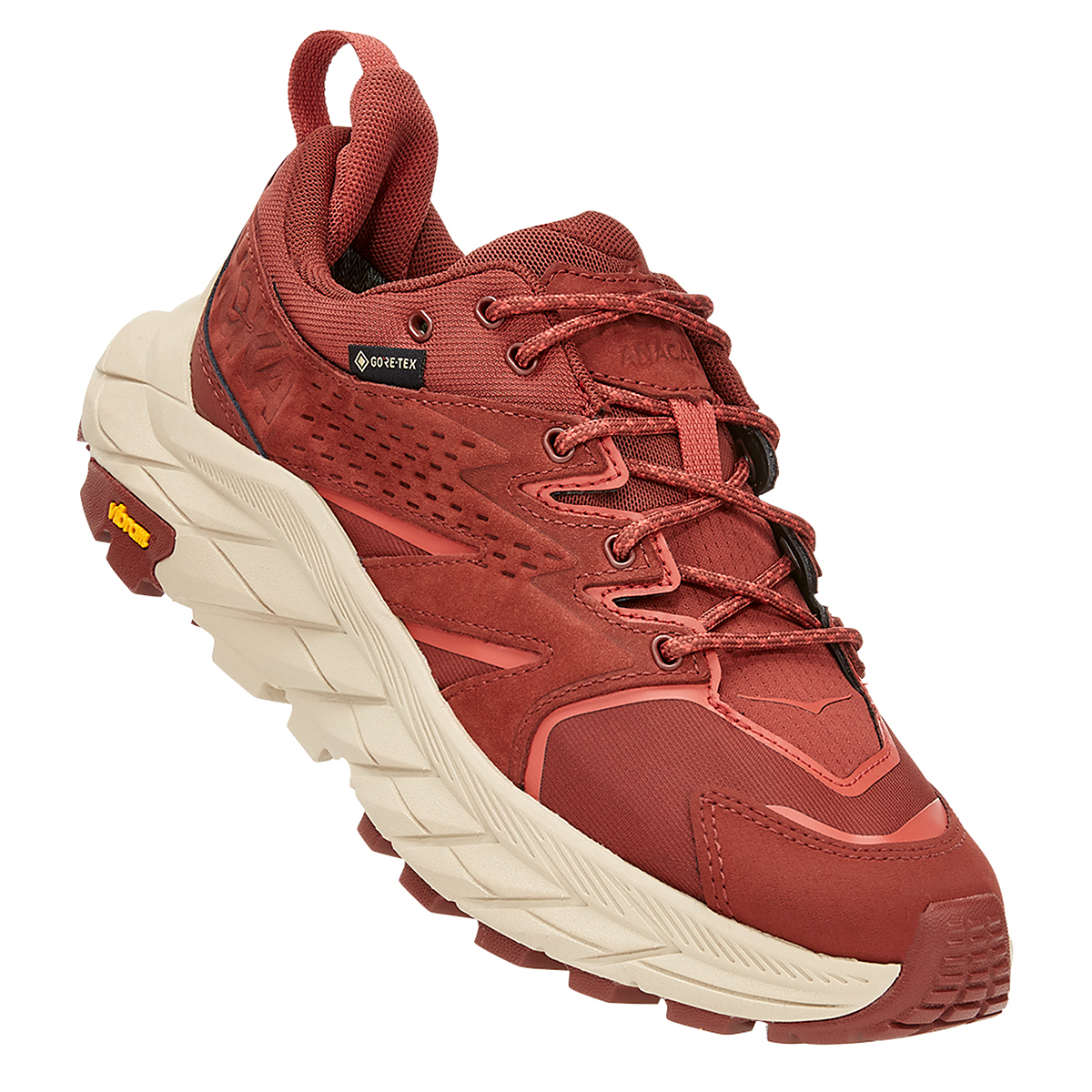 Women's Hoka One One Anacapa Low Gore-Tex Trail Running Shoe - Color: Cherry Mahogany - Size: 5 - Width: Regular, Cherry Mahogany, large, image 2