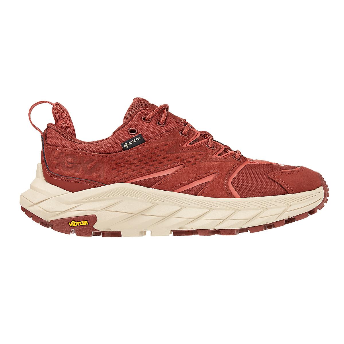 Women's Hoka One One Anacapa Low Gore-Tex Trail Running Shoe - Color: Cherry Mahogany - Size: 5 - Width: Regular, Cherry Mahogany, large, image 1