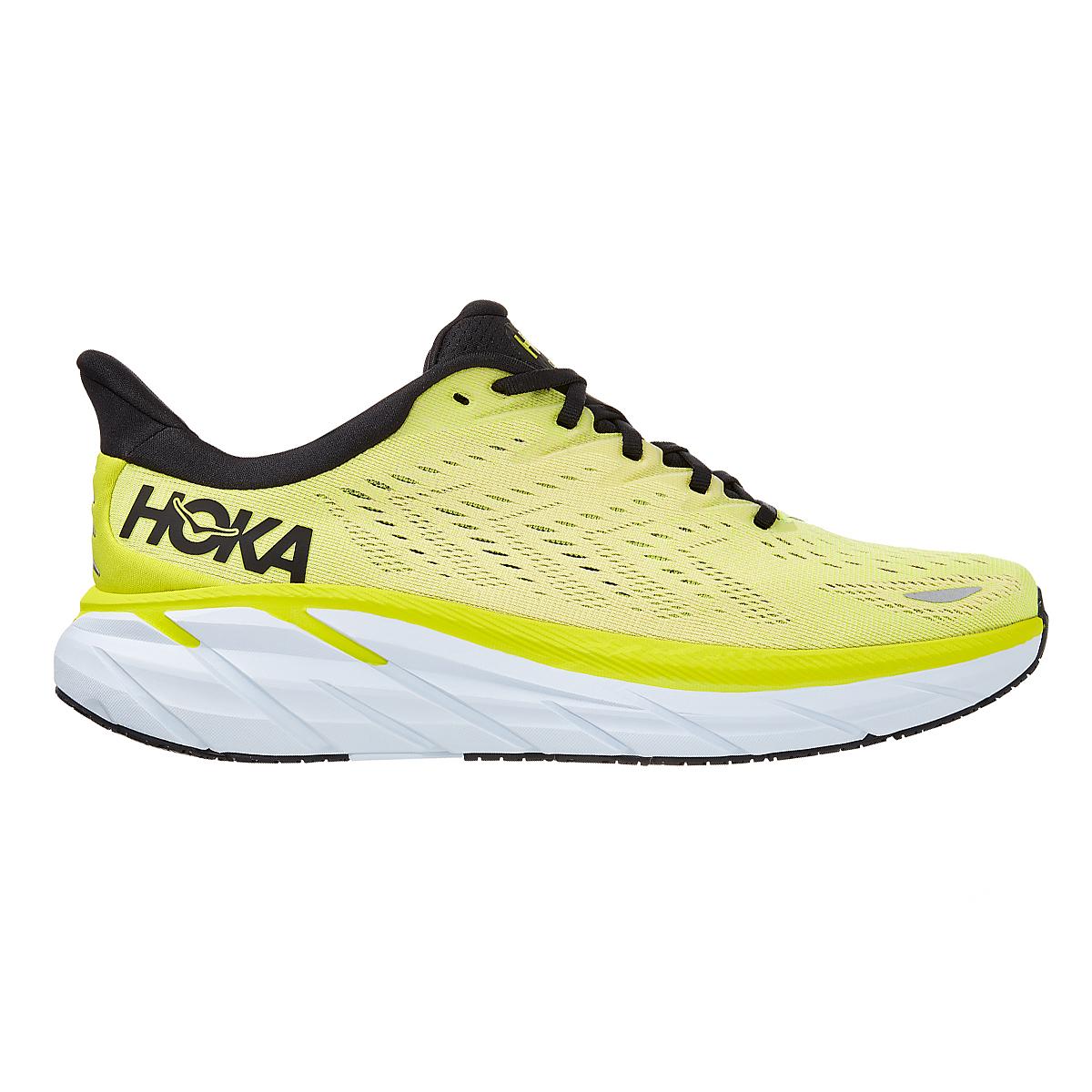 Men's Hoka One One Clifton 8 Running Shoe - Color: Evening Primrose/Charlock - Size: 7 - Width: Regular, Evening Primrose/Charlock, large, image 1