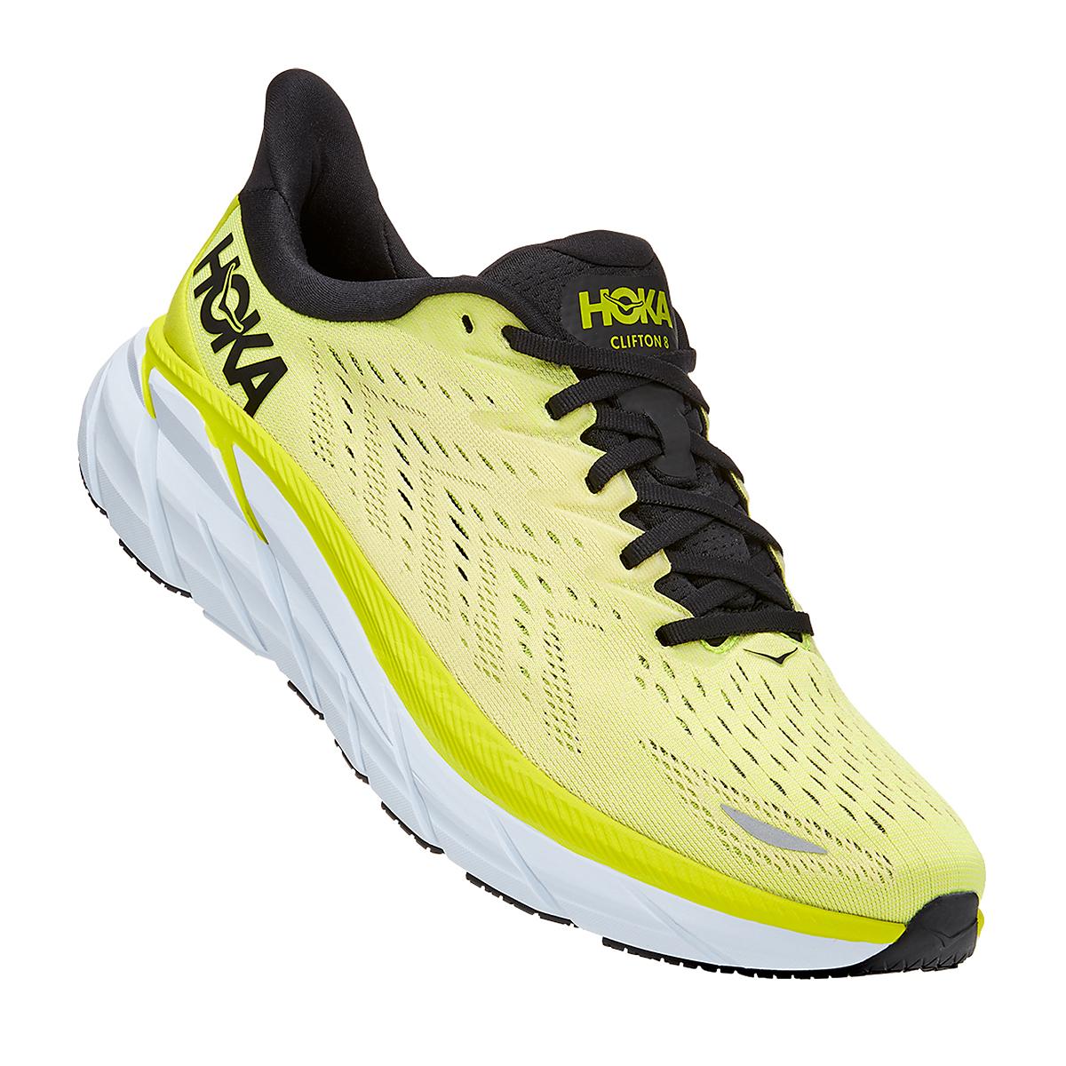 Men's Hoka One One Clifton 8 Running Shoe - Color: Evening Primrose/Charlock - Size: 7 - Width: Regular, Evening Primrose/Charlock, large, image 2