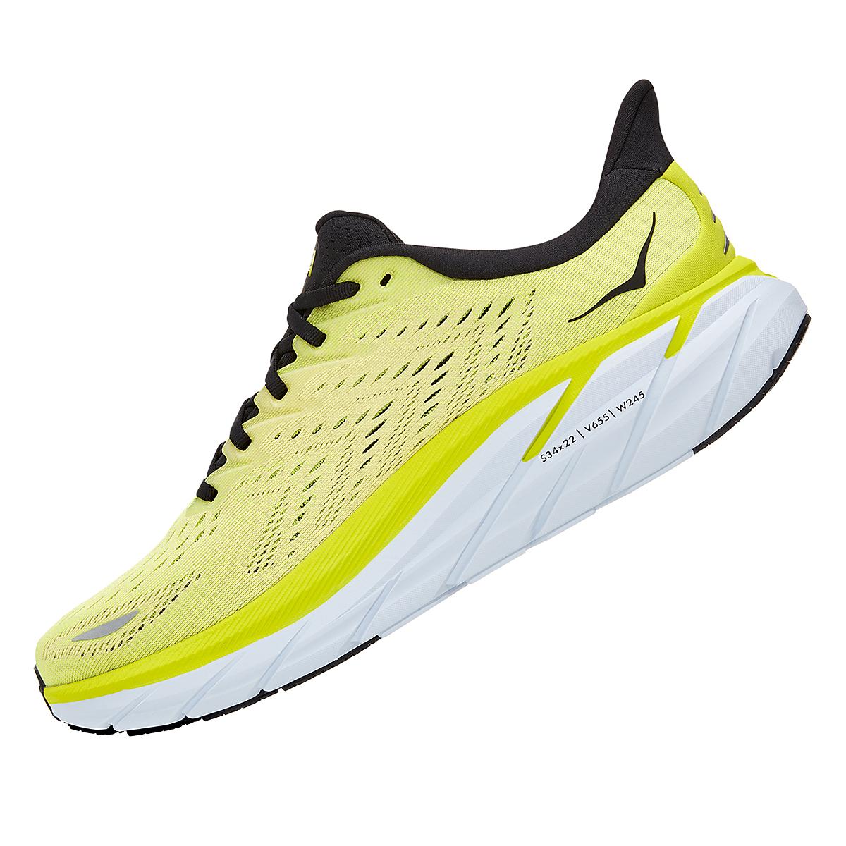Men's Hoka One One Clifton 8 Running Shoe - Color: Evening Primrose/Charlock - Size: 7 - Width: Regular, Evening Primrose/Charlock, large, image 4