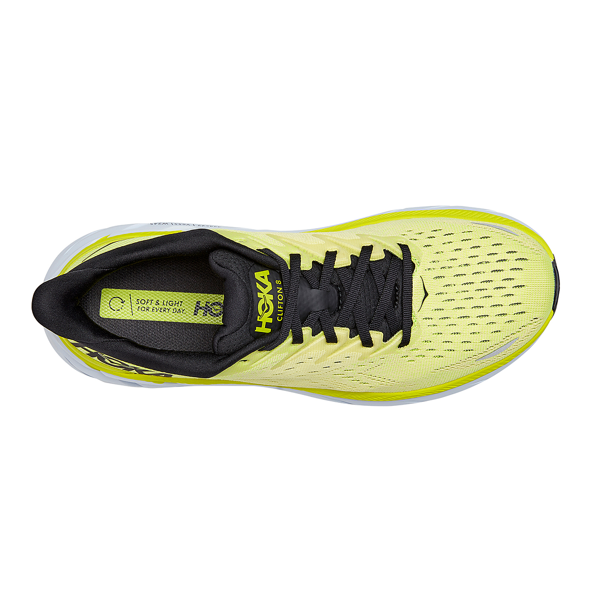 Men's Hoka One One Clifton 8 Running Shoe - Color: Evening Primrose/Charlock - Size: 7 - Width: Regular, Evening Primrose/Charlock, large, image 5