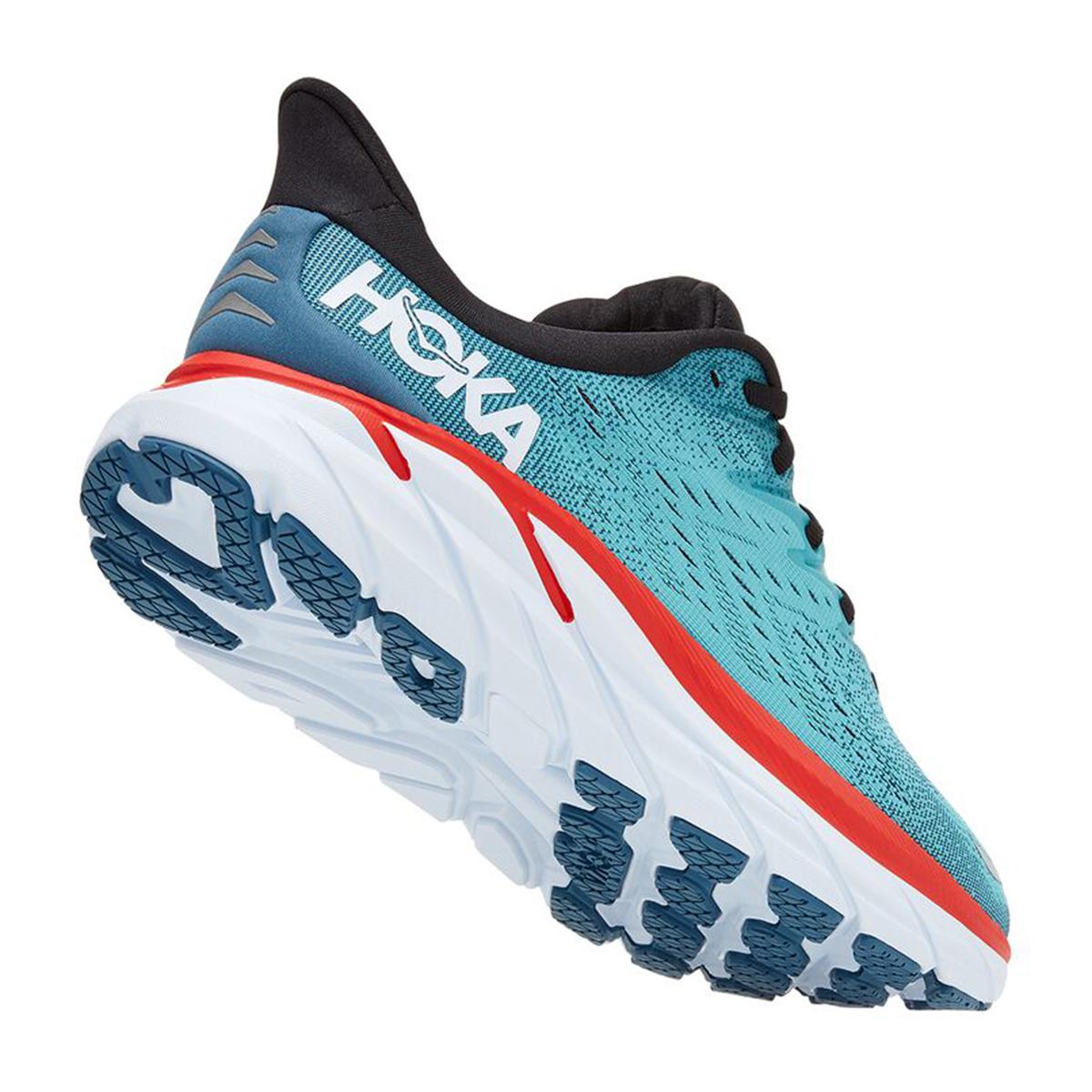 Men's Hoka One One Clifton 8 Running Shoe - Color: Real Teal/Aquarelle - Size: 7 - Width: Regular, Real Teal/Aquarelle, large, image 6