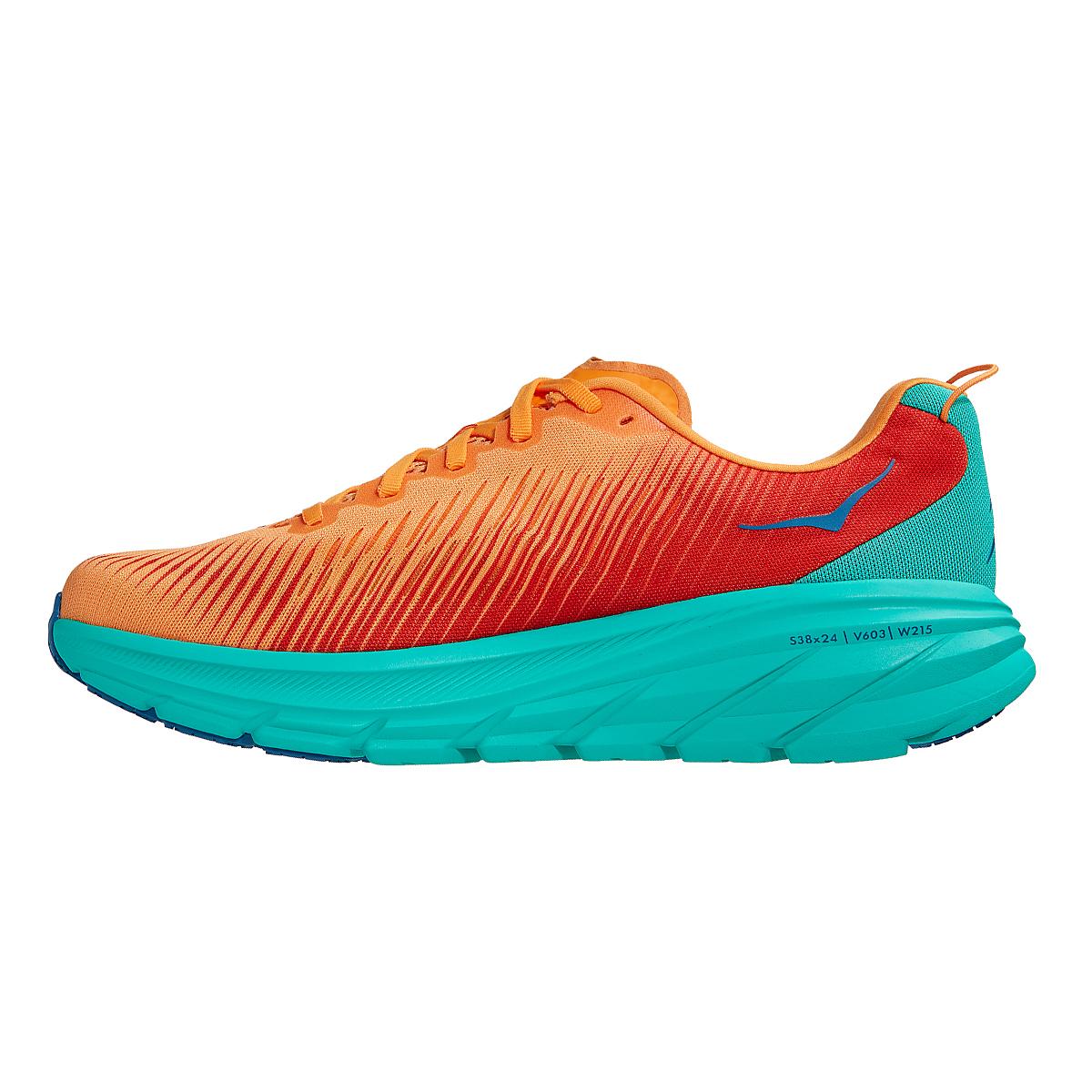Men's Hoka One One Rincon 3 Running Shoe - Color: Blazing Orange - Size: 7 - Width: Regular, Blazing Orange, large, image 2