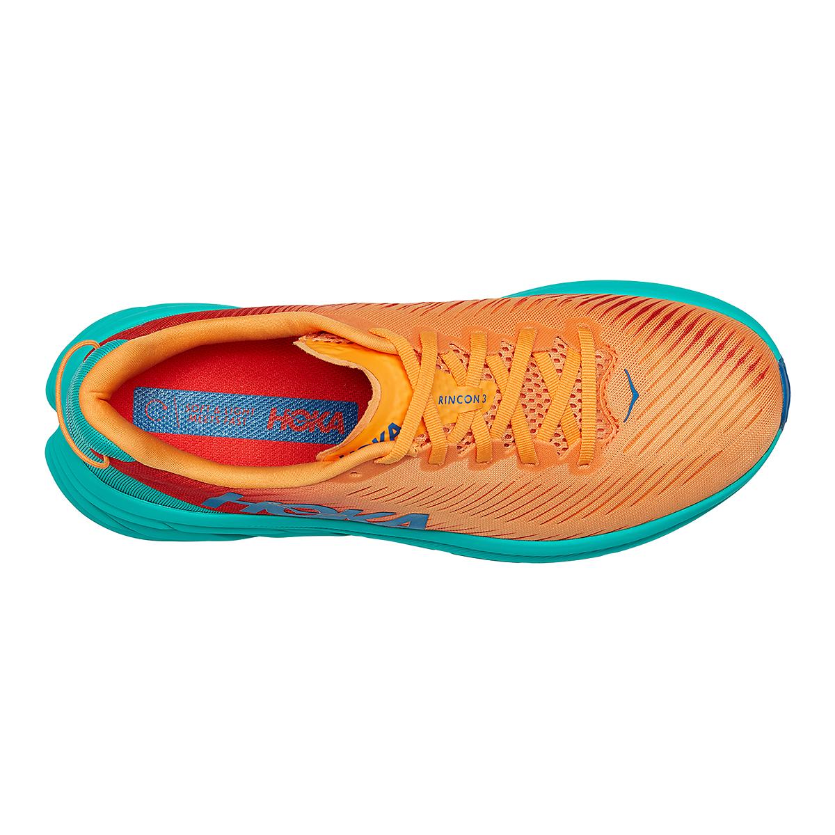 Men's Hoka One One Rincon 3 Running Shoe - Color: Blazing Orange - Size: 7 - Width: Regular, Blazing Orange, large, image 3