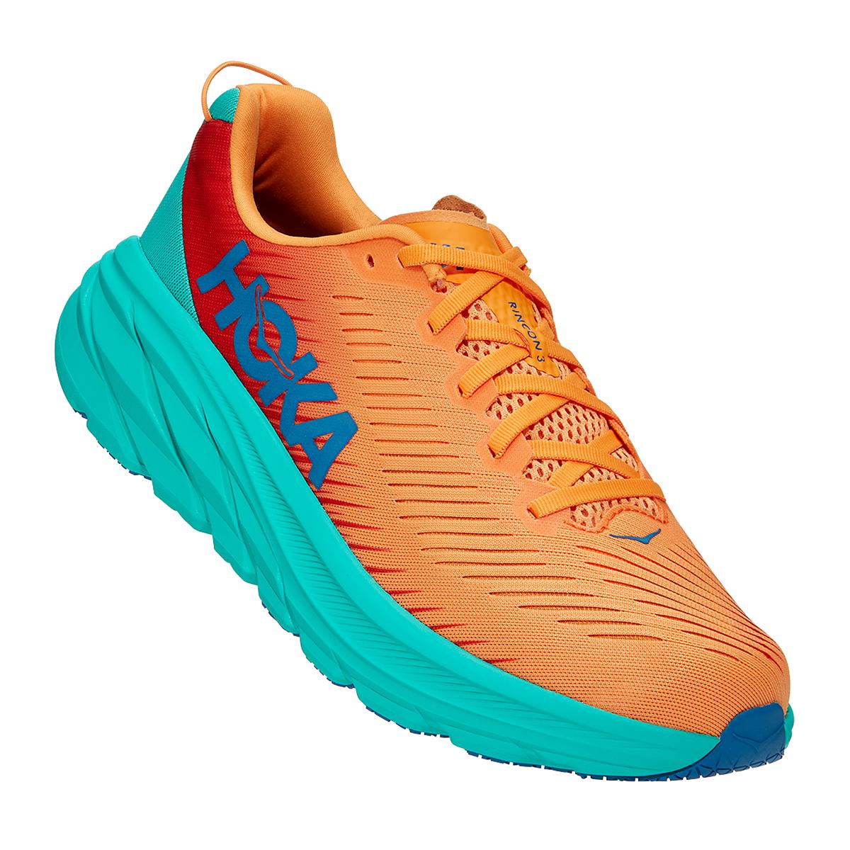 Men's Hoka One One Rincon 3 Running Shoe - Color: Blazing Orange - Size: 7 - Width: Regular, Blazing Orange, large, image 5