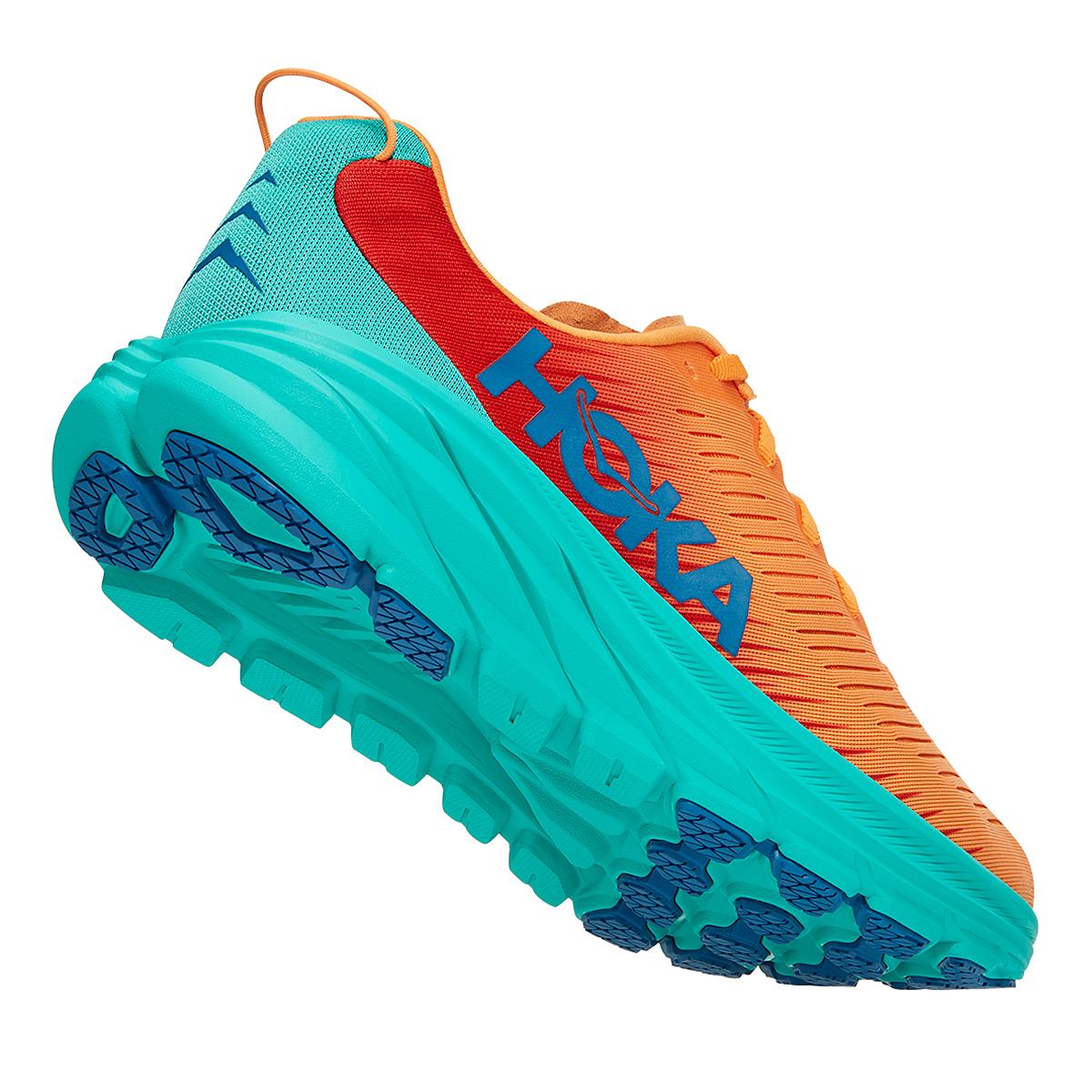 Men's Hoka One One Rincon 3 Running Shoe - Color: Blazing Orange - Size: 7 - Width: Regular, Blazing Orange, large, image 6