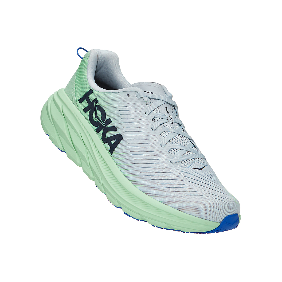 Men's Hoka One One Rincon 3 Running Shoe - Color: Plein Air/Green Ash - Size: 7 - Width: Regular, Plein Air/Green Ash, large, image 2