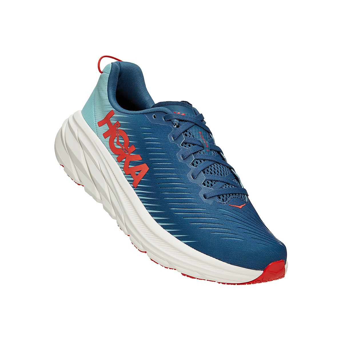 Men's Hoka One One Rincon 3 Running Shoe - Color: Real Teal/Eggshell Blue - Size: 7 - Width: Regular, Real Teal/Eggshell Blue, large, image 2