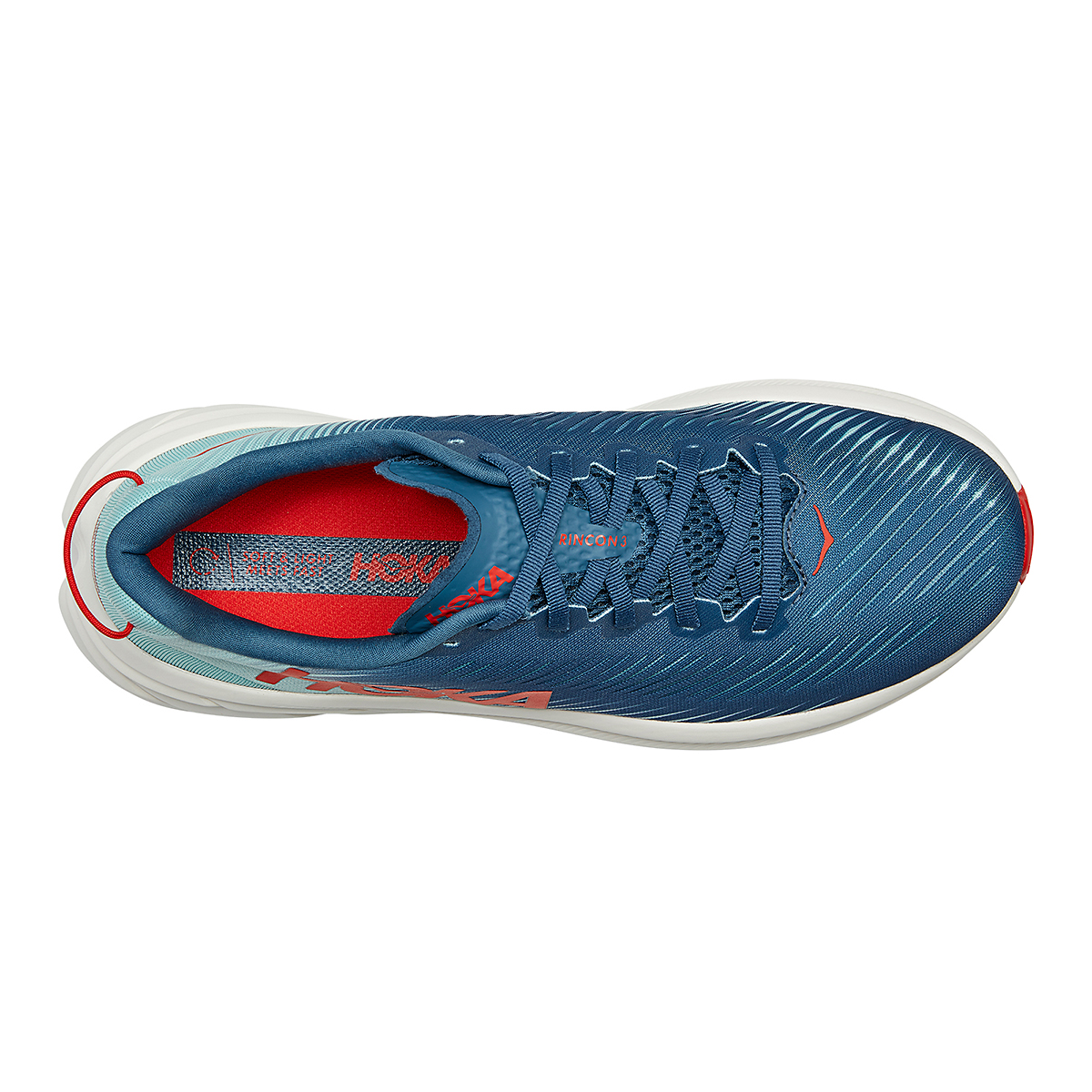 Men's Hoka One One Rincon 3 Running Shoe - Color: Real Teal/Eggshell Blue - Size: 7 - Width: Regular, Real Teal/Eggshell Blue, large, image 5