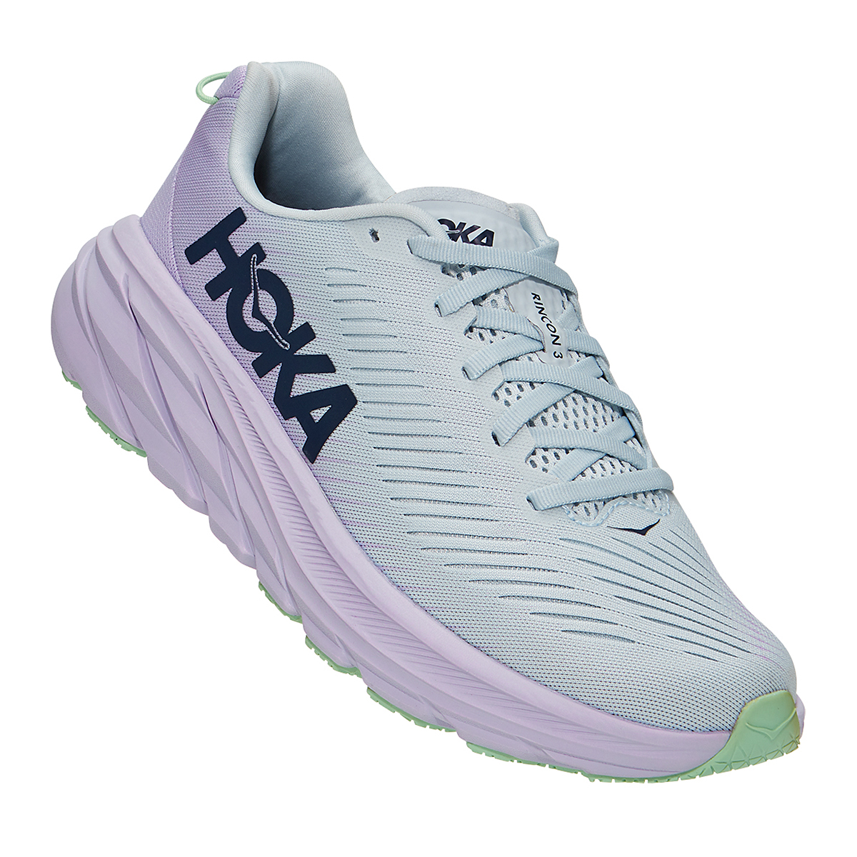 Women's Hoka One One Rincon 3 Running Shoe - Color: Plein Air/Orchid Hush - Size: 5 - Width: Regular, Plein Air/Orchid Hush, large, image 2