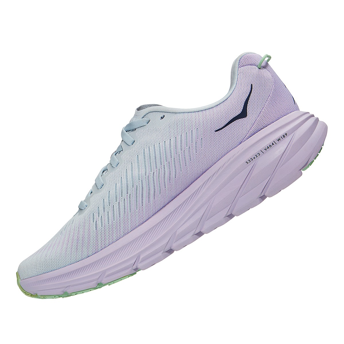 Women's Hoka One One Rincon 3 Running Shoe - Color: Plein Air/Orchid Hush - Size: 5 - Width: Regular, Plein Air/Orchid Hush, large, image 4