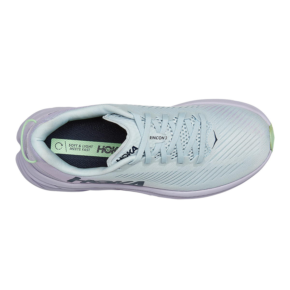 Women's Hoka One One Rincon 3 Running Shoe - Color: Plein Air/Orchid Hush - Size: 5 - Width: Regular, Plein Air/Orchid Hush, large, image 5