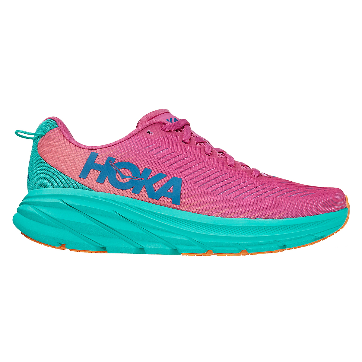 Women's Hoka One One Rincon 3 Running Shoe - Color: Phlox Pink/Atlantis - Size: 5 - Width: Regular, Phlox Pink/Atlantis, large, image 1