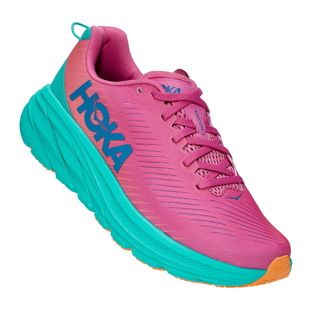 Women's Hoka One One Rincon 3 Running Shoe - Color: Phlox Pink/Atlantis - Size: 5 - Width: Regular, Phlox Pink/Atlantis, large, image 2