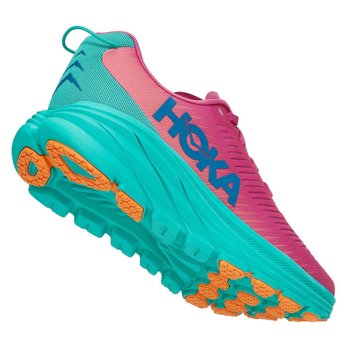 Women's Hoka One One Rincon 3 Running Shoe - Color: Phlox Pink/Atlantis - Size: 5 - Width: Regular, Phlox Pink/Atlantis, large, image 3