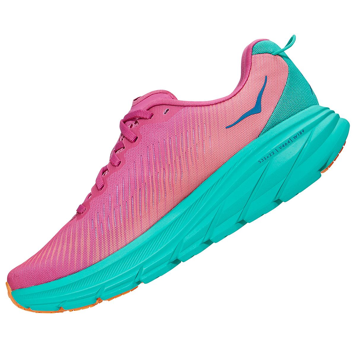 Women's Hoka One One Rincon 3 Running Shoe - Color: Phlox Pink/Atlantis - Size: 5 - Width: Regular, Phlox Pink/Atlantis, large, image 4