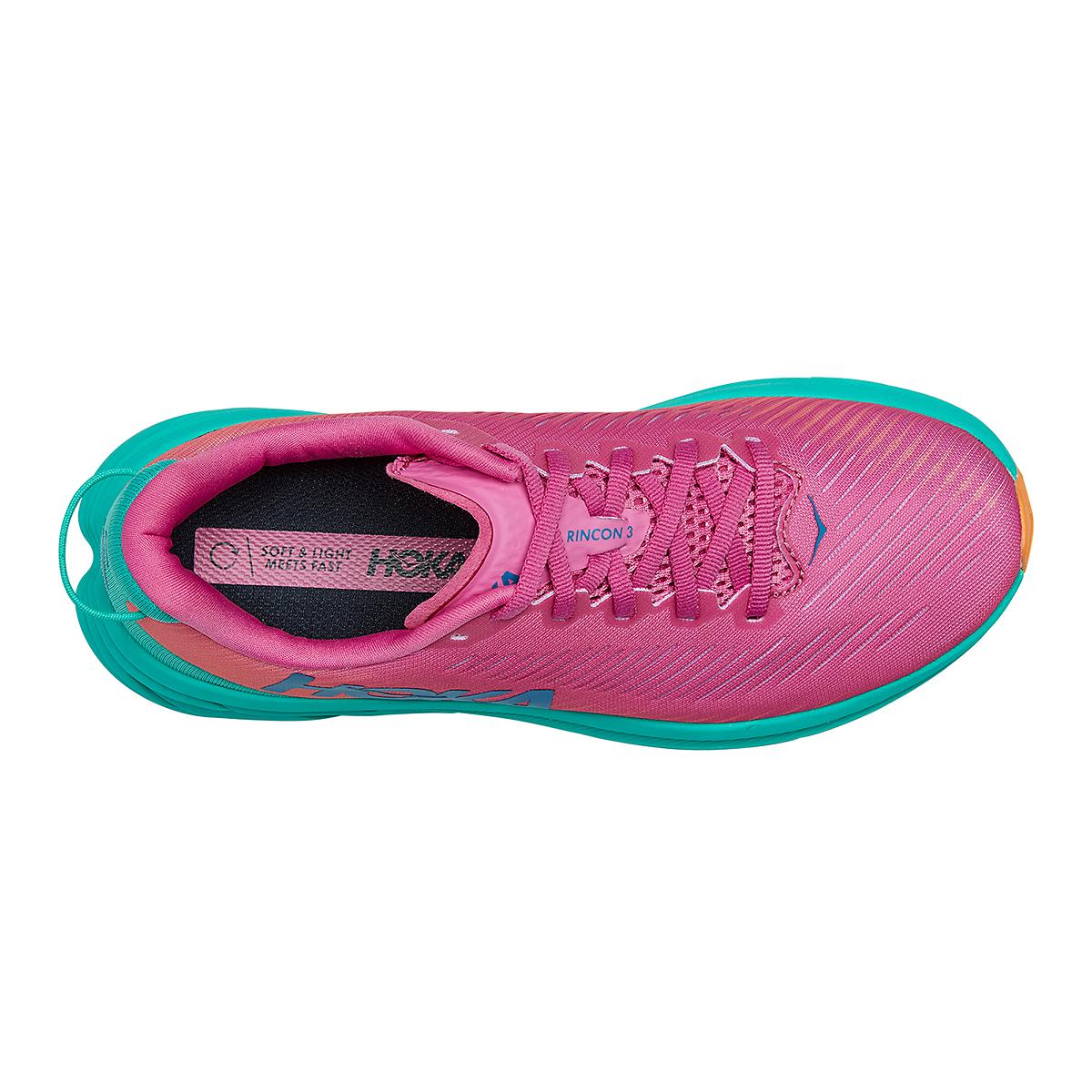 Women's Hoka One One Rincon 3 Running Shoe - Color: Phlox Pink/Atlantis - Size: 5 - Width: Regular, Phlox Pink/Atlantis, large, image 5
