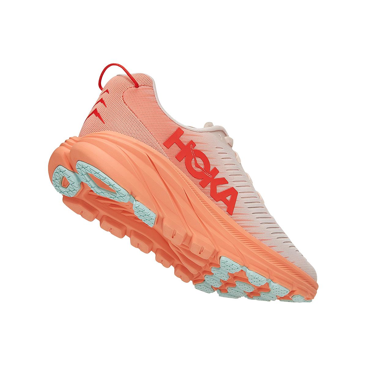 Women's Hoka One One Rincon 3 Running Shoe - Color: Silver Peony/Cantaloupe - Size: 5 - Width: Regular, Silver Peony/Cantaloupe, large, image 3