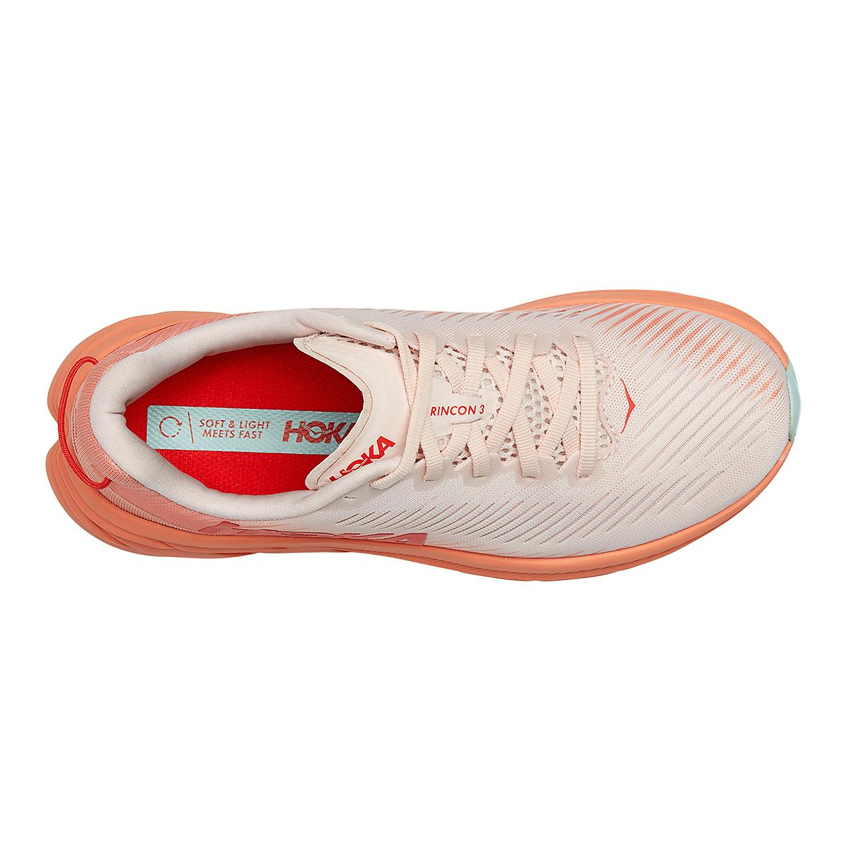 Women's Hoka One One Rincon 3 Running Shoe - Color: Silver Peony/Cantaloupe - Size: 5 - Width: Regular, Silver Peony/Cantaloupe, large, image 5