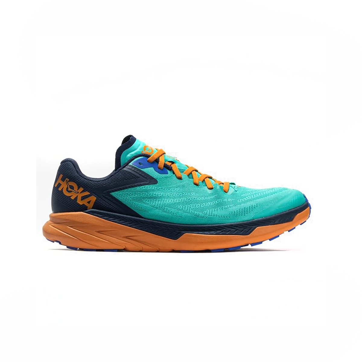 Men's Hoka One One Zinal Trail Running Shoe - Color: Atlantis / Outer Space - Size: 7 - Width: Narrow, Atlantis / Outer Space, large, image 1