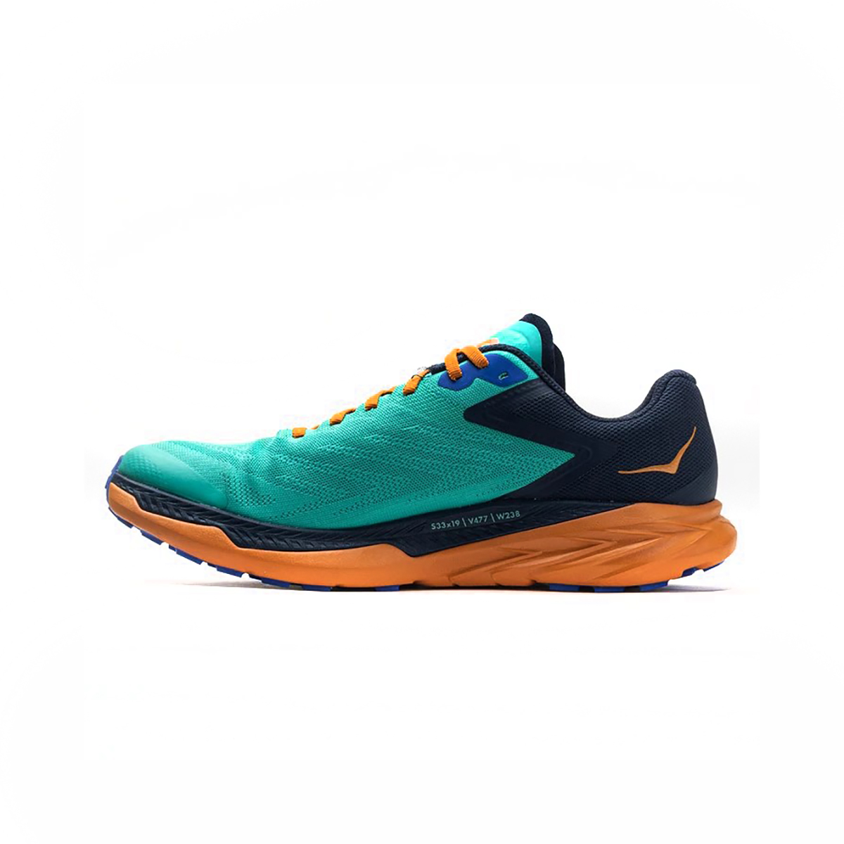 Men's Hoka One One Zinal Trail Running Shoe - Color: Atlantis / Outer Space - Size: 7 - Width: Narrow, Atlantis / Outer Space, large, image 2