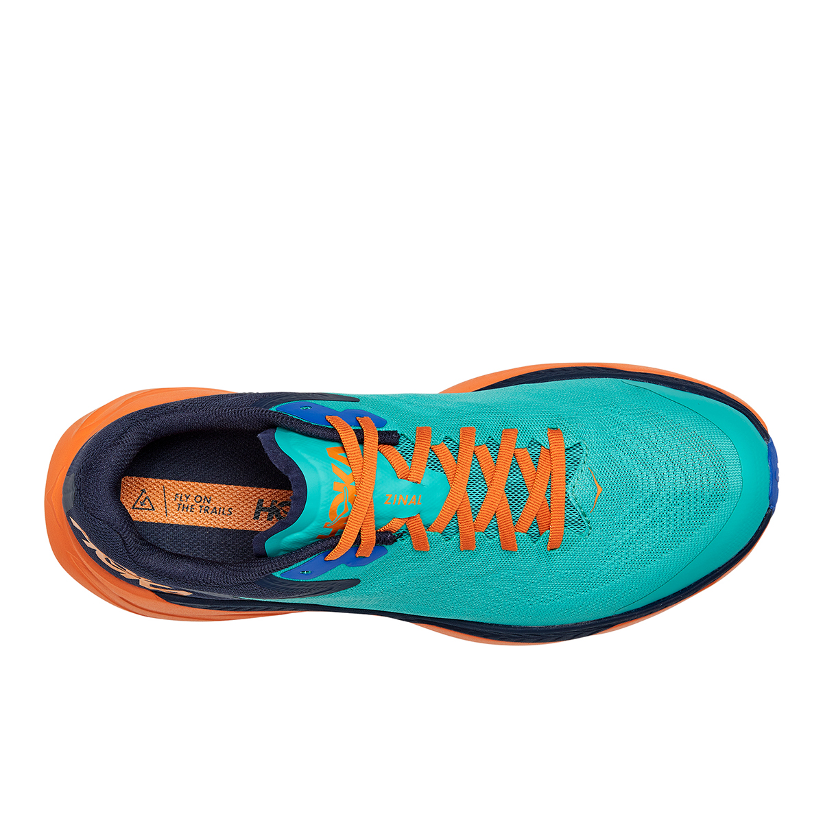 Men's Hoka One One Zinal Trail Running Shoe - Color: Atlantis / Outer Space - Size: 7 - Width: Narrow, Atlantis / Outer Space, large, image 3