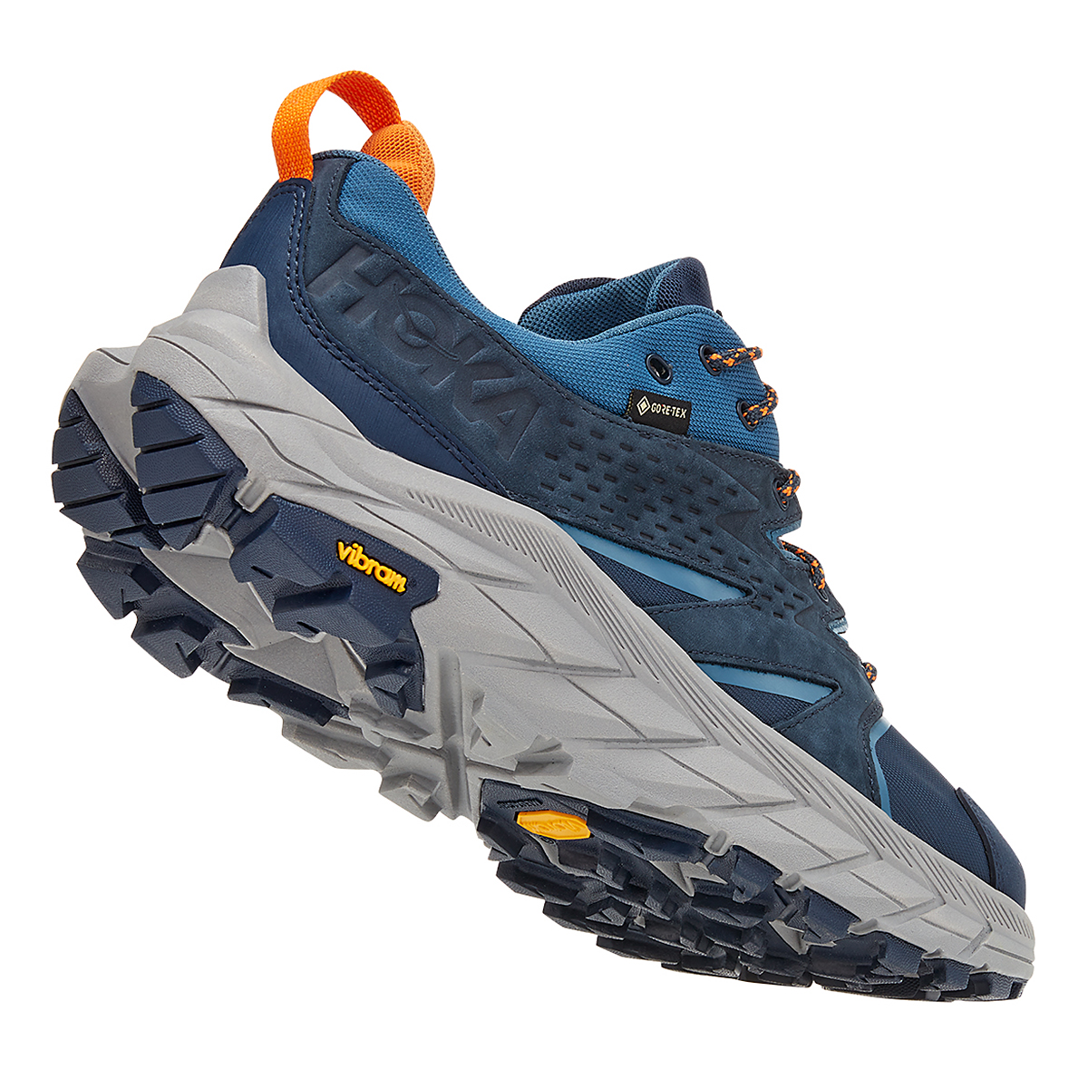 Men's Hoka One One Anacapa Low Gore-Tex Trail Running Shoe - Color: Outer Space/Real Teal - Size: 7 - Width: Regular, Outer Space/Real Teal, large, image 3