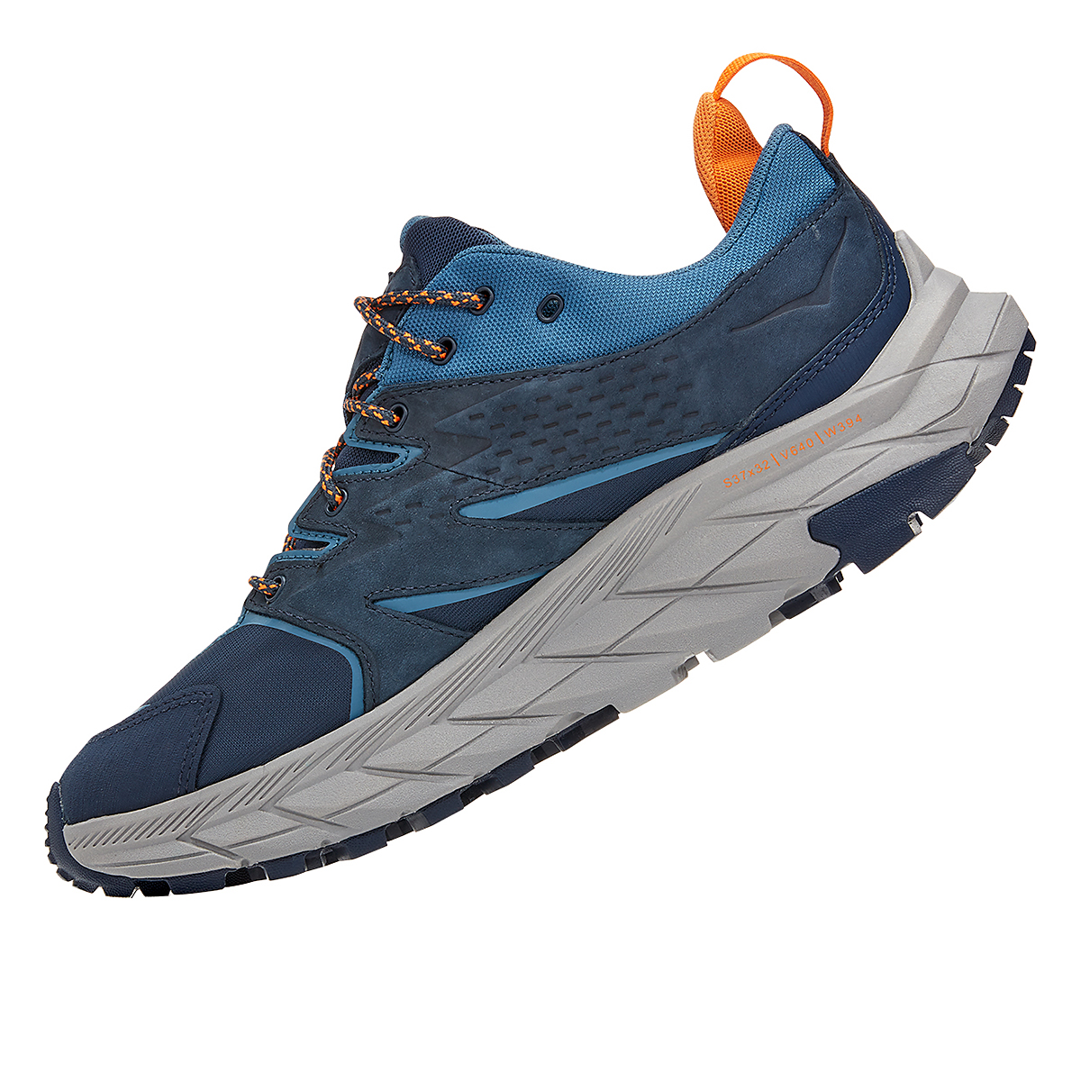 Men's Hoka One One Anacapa Low Gore-Tex Trail Running Shoe - Color: Outer Space/Real Teal - Size: 7 - Width: Regular, Outer Space/Real Teal, large, image 4
