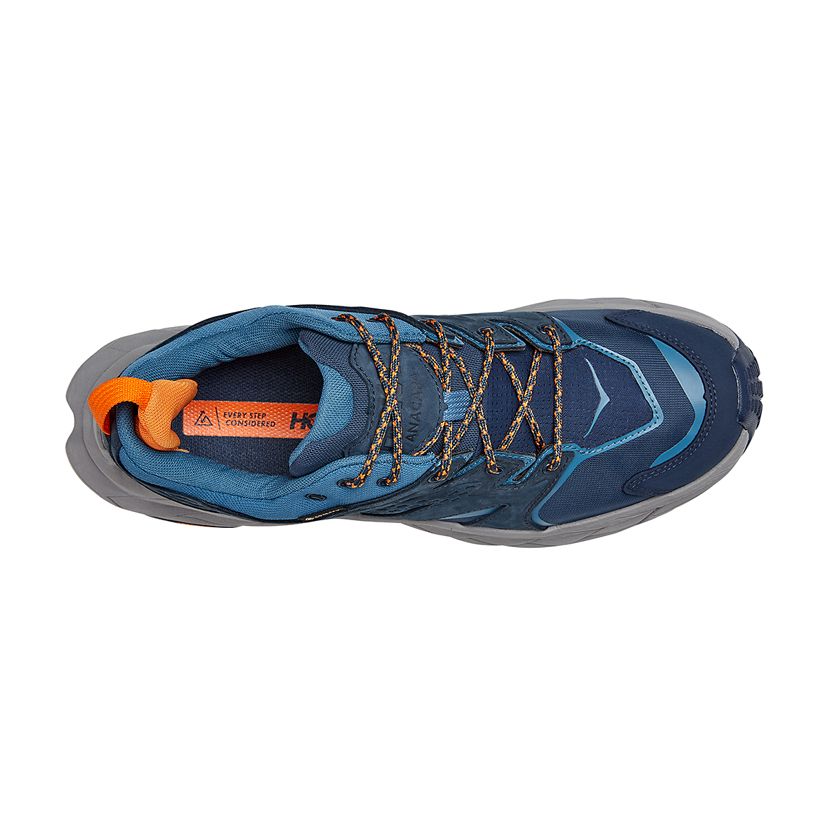 Men's Hoka One One Anacapa Low Gore-Tex Trail Running Shoe - Color: Outer Space/Real Teal - Size: 7 - Width: Regular, Outer Space/Real Teal, large, image 5