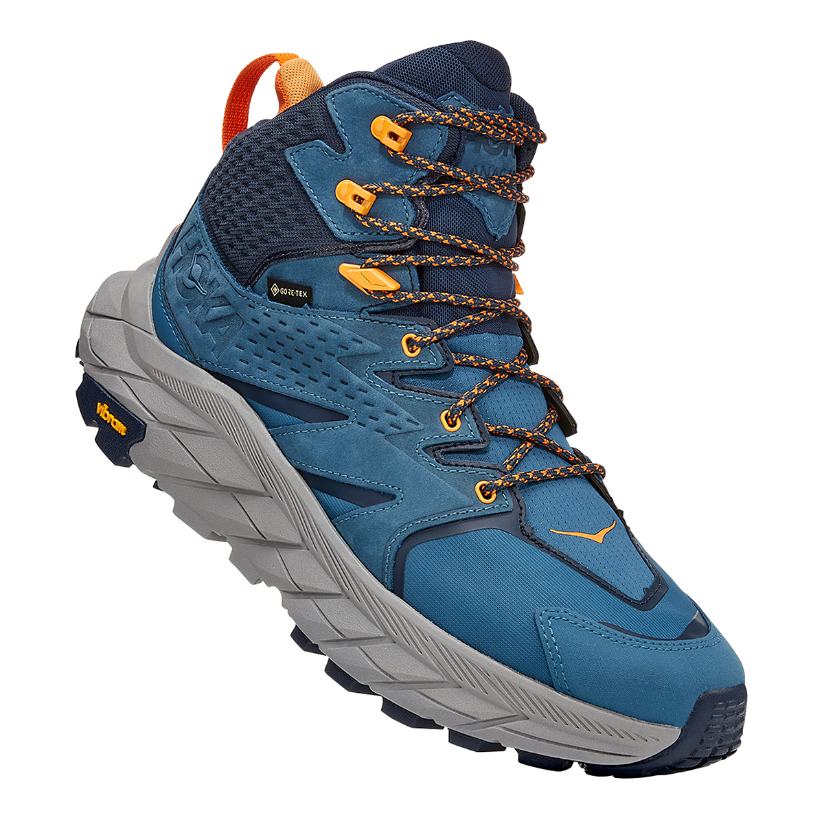 Men's Hoka One One Anacapa Mid Gore-Tex Trail Running Shoe - Color: Real Teal/Outer Space - Size: 7 - Width: Regular, Real Teal/Outer Space, large, image 2