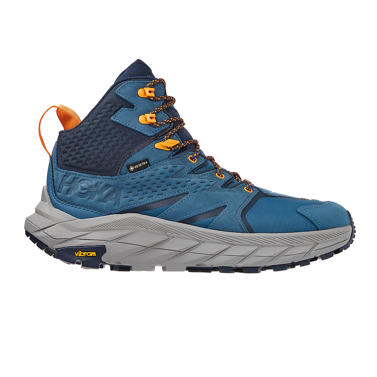 Men's Hoka One One Anacapa Mid Gore-Tex Trail Running Shoe - Color: Real Teal/Outer Space - Size: 7 - Width: Regular, Real Teal/Outer Space, large, image 1