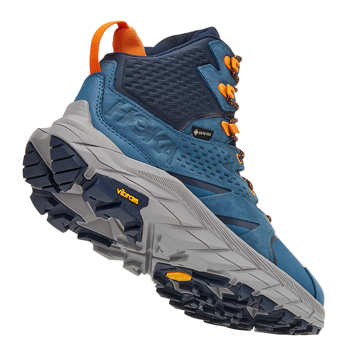 Men's Hoka One One Anacapa Mid Gore-Tex Trail Running Shoe - Color: Real Teal/Outer Space - Size: 7 - Width: Regular, Real Teal/Outer Space, large, image 3