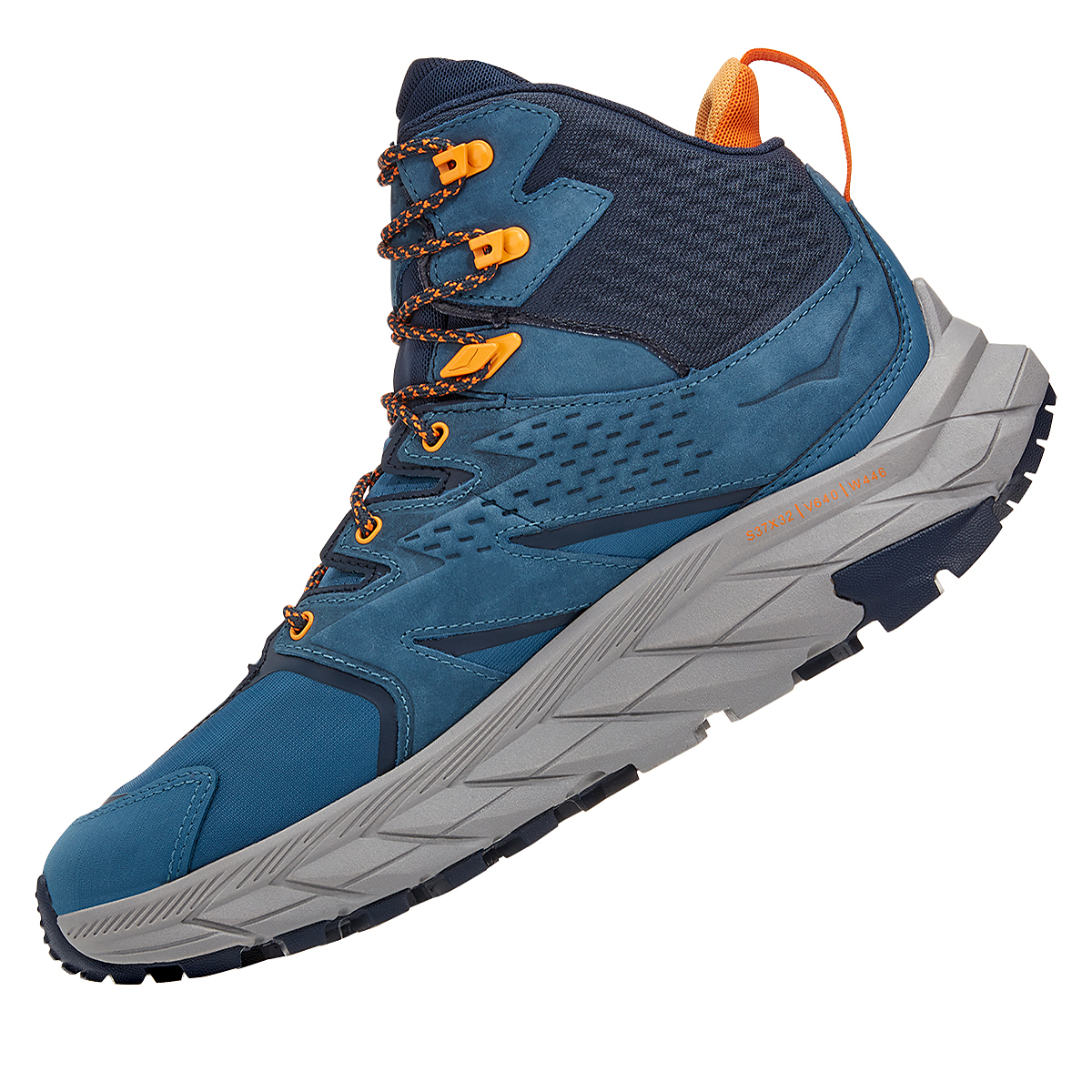 Men's Hoka One One Anacapa Mid Gore-Tex Trail Running Shoe - Color: Real Teal/Outer Space - Size: 7 - Width: Regular, Real Teal/Outer Space, large, image 4