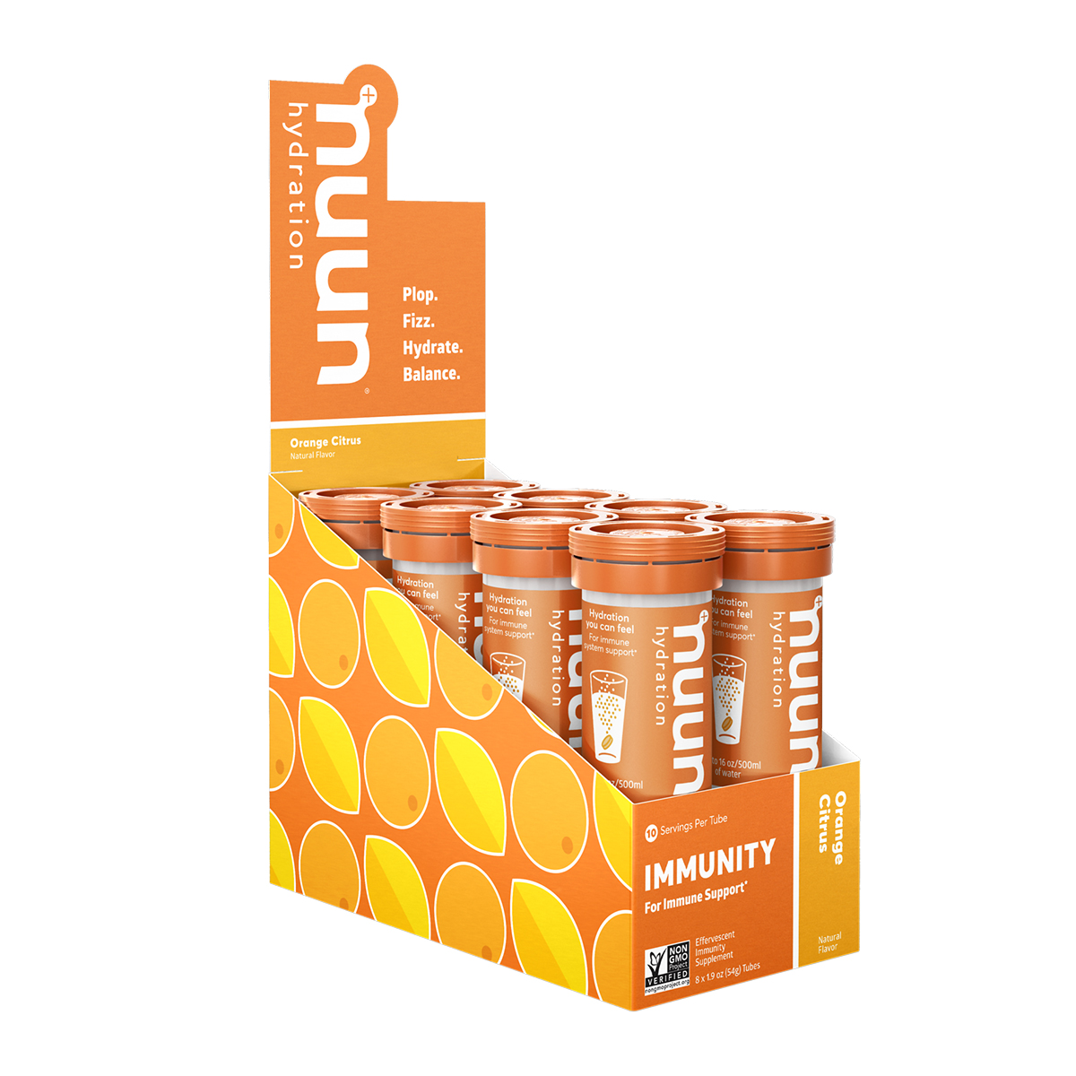 Nuun Immunity Drink Tablets - Flavor: Orange Citrus - Size: Box of 8, Orange Citrus, large, image 1