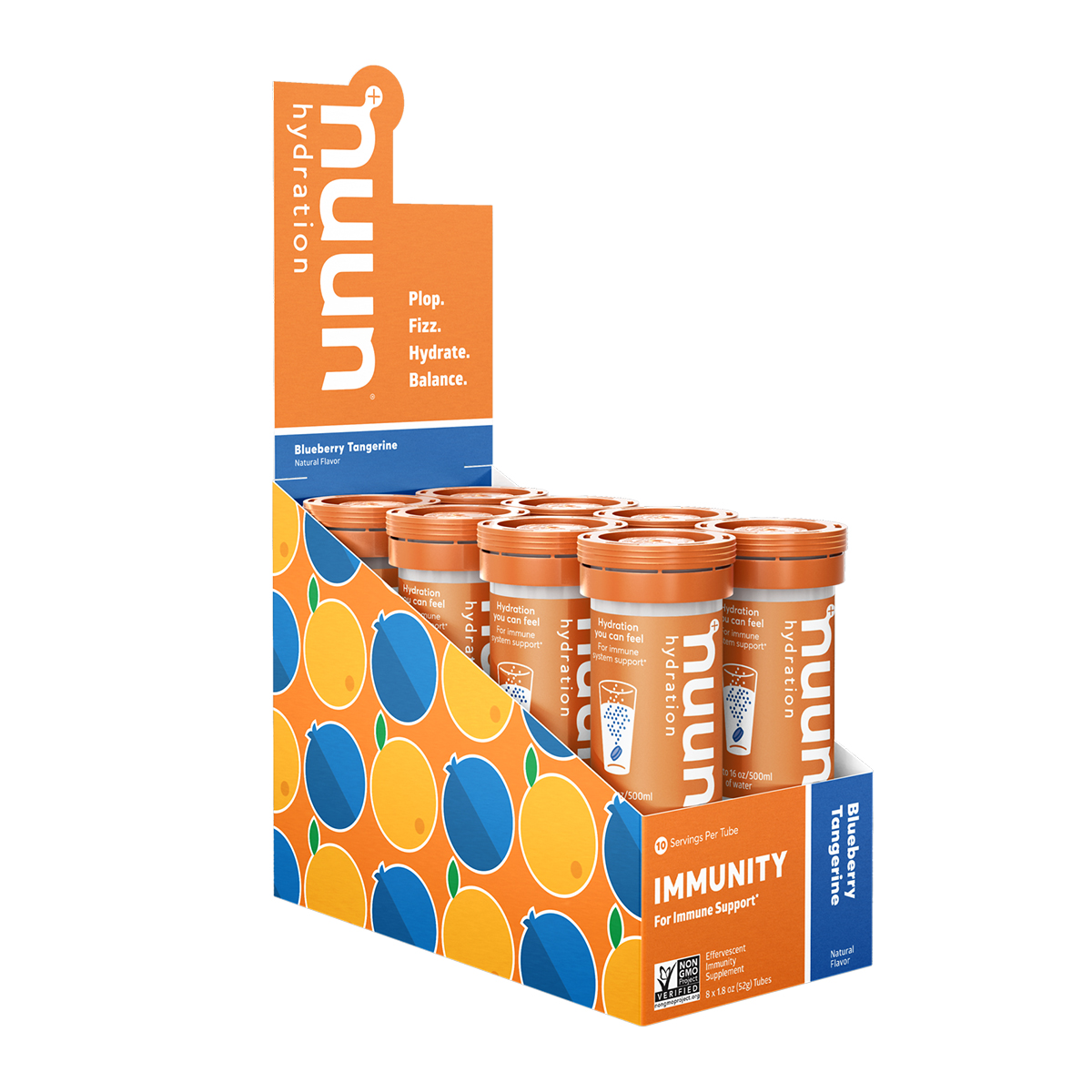 Nuun Immunity Drink Tablets - Flavor: Blueberry Tangerine - Size: Box of 8, Blueberry Tangerine, large, image 1