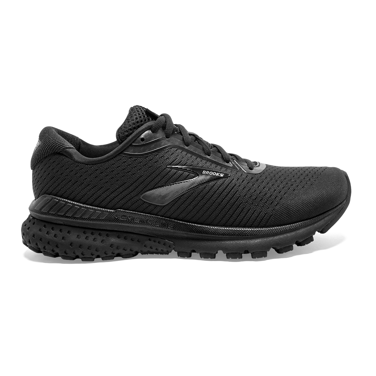 Women's Brooks Adrenaline GTS 20 Running Shoe - Color: Black/Grey (Regular Width) - Size: 6, Black/Grey, large, image 1