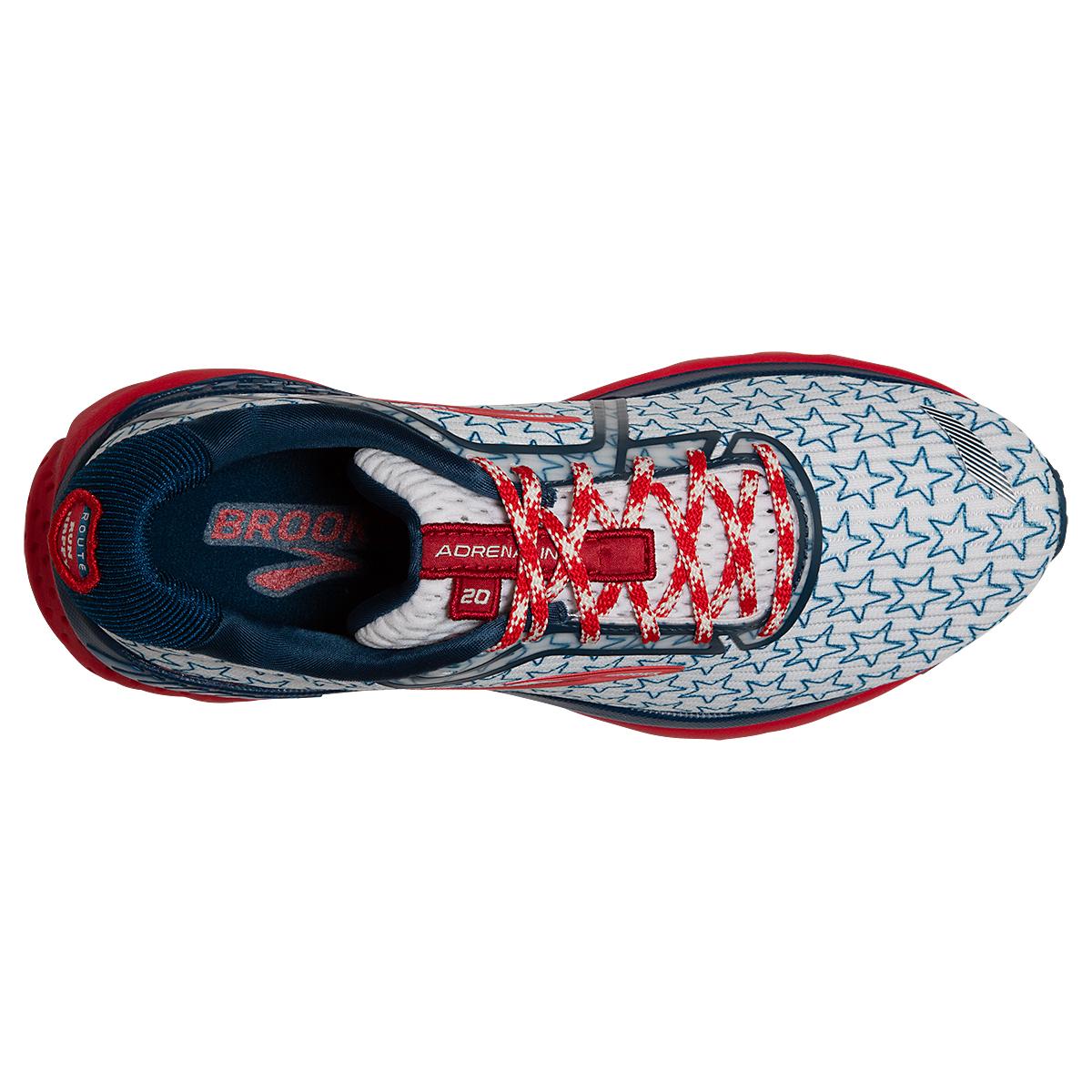 Women's Brooks Adrenaline GTS 20 Running Shoe - Color: White/Gibraltar - Size: 5 - Width: Regular, White/Gibraltar, large, image 2