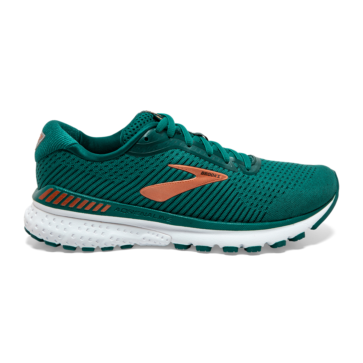 Women's Brooks Adrenaline GTS 20 Running Shoe - Color: Green/Teal/Copper - Size: 5 - Width: Regular, Green/Teal/Copper, large, image 1