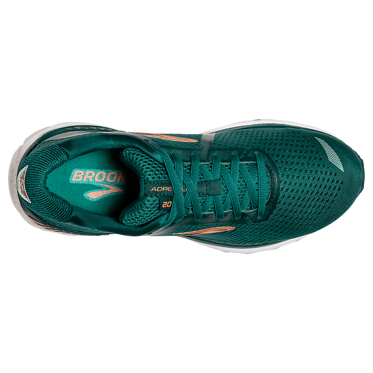Women's Brooks Adrenaline GTS 20 Running Shoe - Color: Green/Teal/Copper - Size: 5 - Width: Regular, Green/Teal/Copper, large, image 2