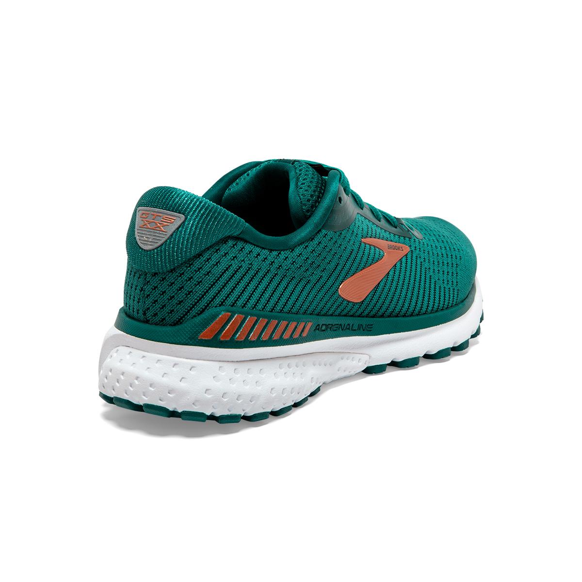 Women's Brooks Adrenaline GTS 20 Running Shoe - Color: Green/Teal/Copper - Size: 5 - Width: Regular, Green/Teal/Copper, large, image 4