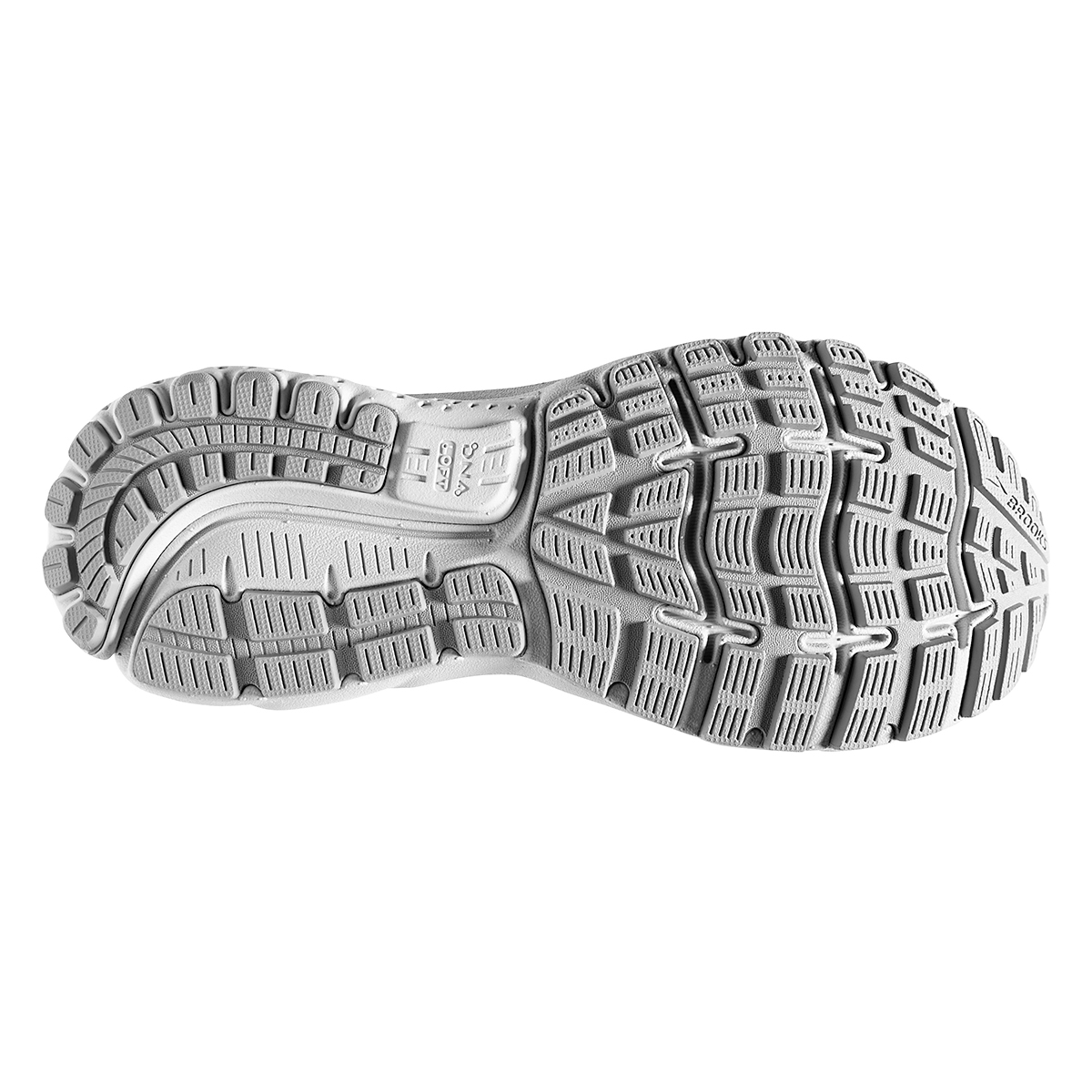 Women's Brooks Ghost 12 Running Shoe - Color: Oyster/Alloy/White - Size: 8.5 - Width: Regular, Oyster/Alloy/White, large, image 6