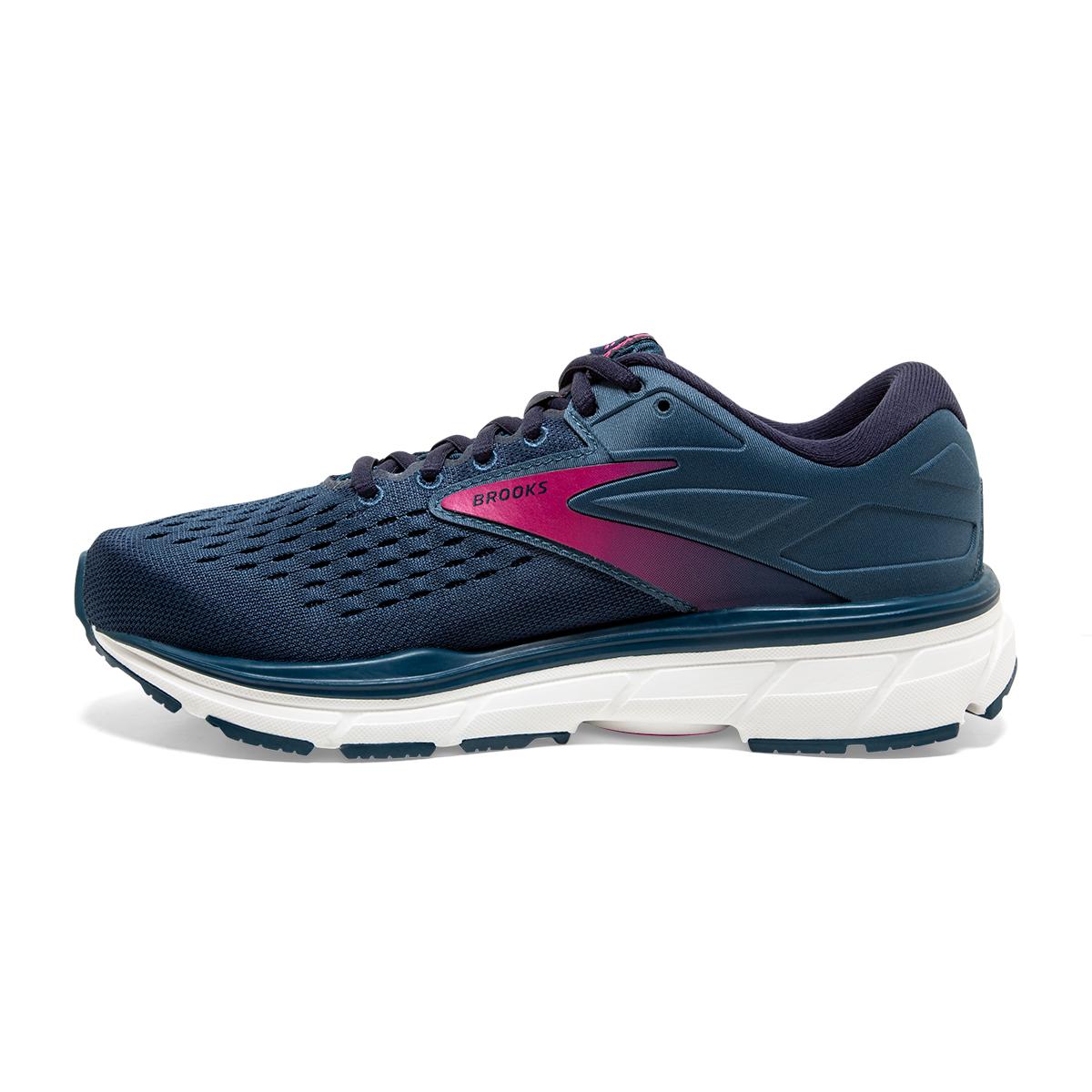 Women's Brooks Dyad 11 Running Shoe - Color: Blue/Navy/Beetroot (Regular Width) - Size: 7.5, Blue/Navy/Beetroot, large, image 2