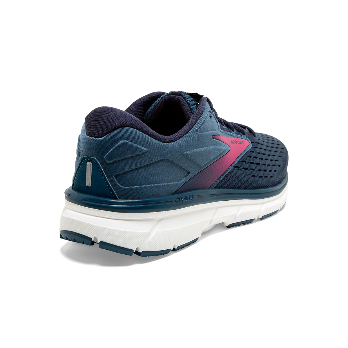 Women's Brooks Dyad 11 Running Shoe - Color: Blue/Navy/Beetroot (Regular Width) - Size: 7.5, Blue/Navy/Beetroot, large, image 4