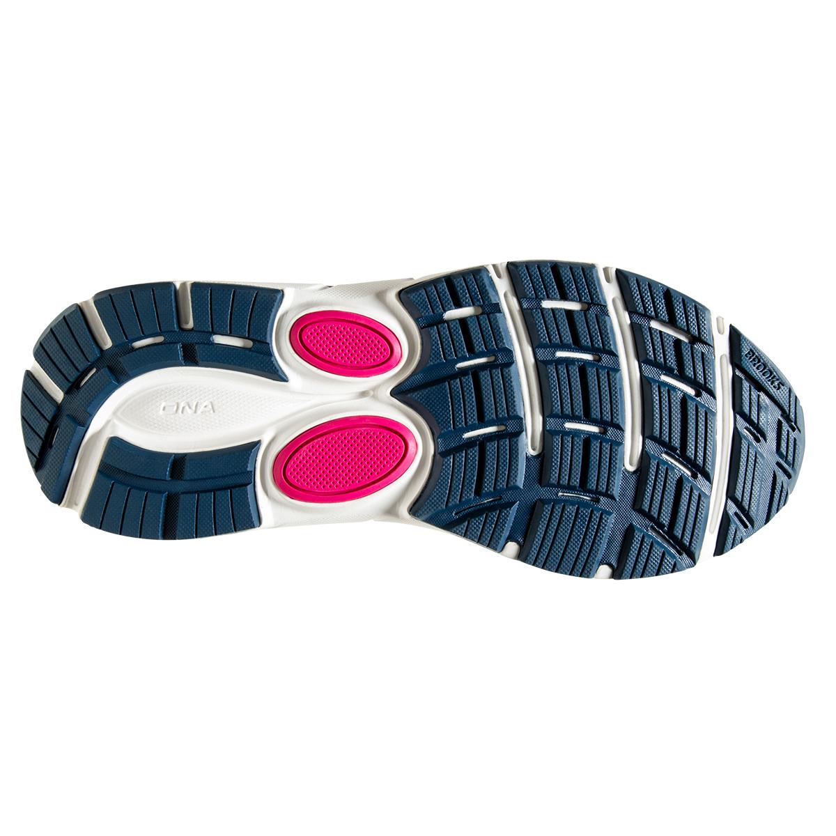 Women's Brooks Dyad 11 Running Shoe - Color: Blue/Navy/Beetroot (Regular Width) - Size: 7.5, Blue/Navy/Beetroot, large, image 6