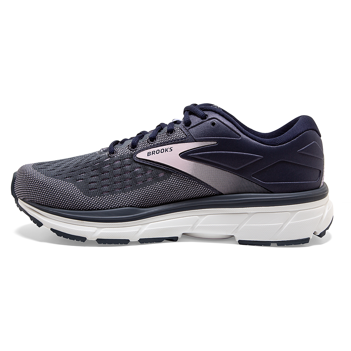 Women's Brooks Dyad 11 Running Shoe - Color: Ombre/Primrose  - Size: 6 - Width: Regular, Ombre/Primrose, large, image 2